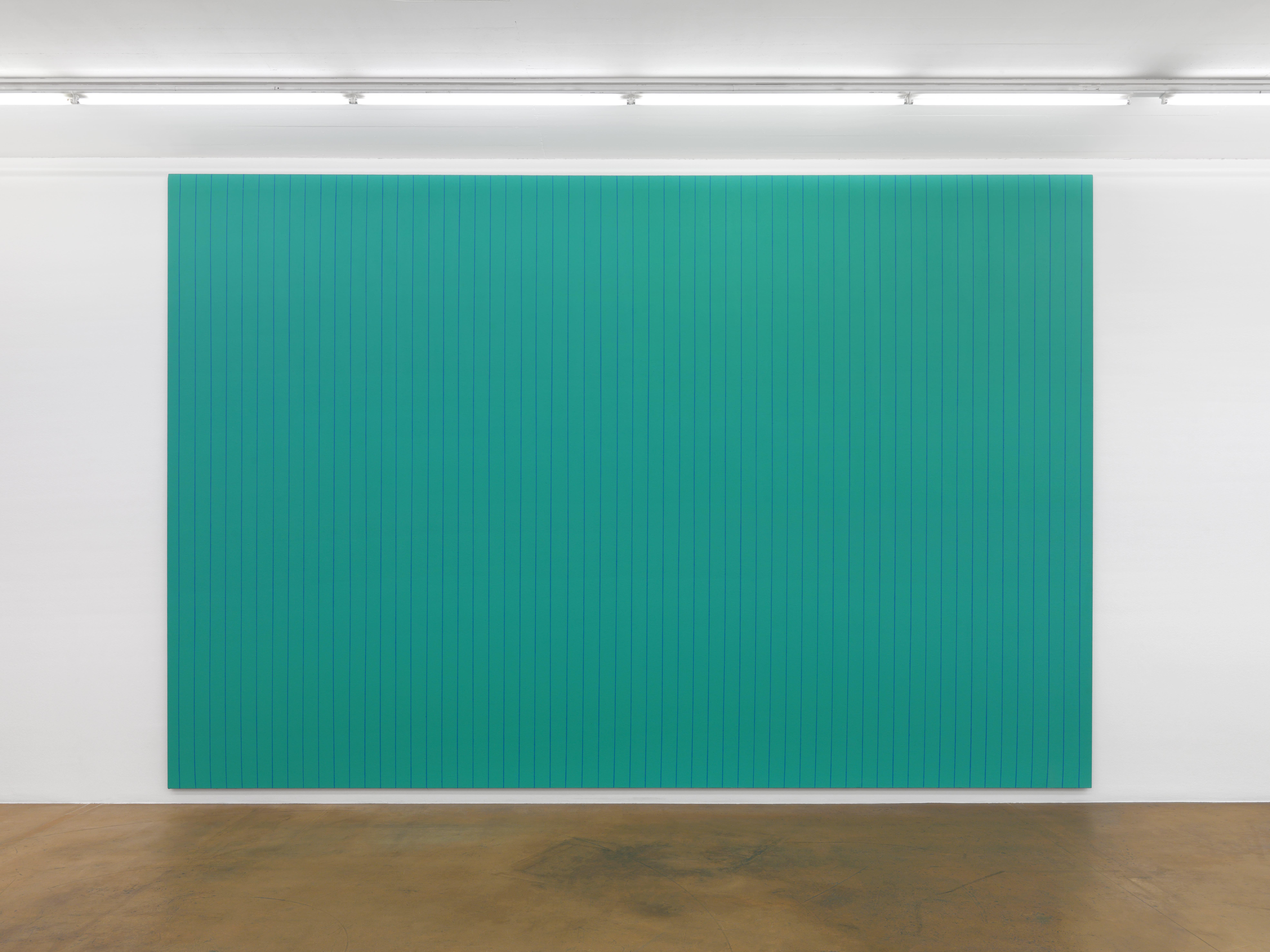 Olivier Mosset, Sans titre, 1989, acrylique sur toile, 400 x 600 cm / Photo credits: Annik Wetter–MAMCO Geneva