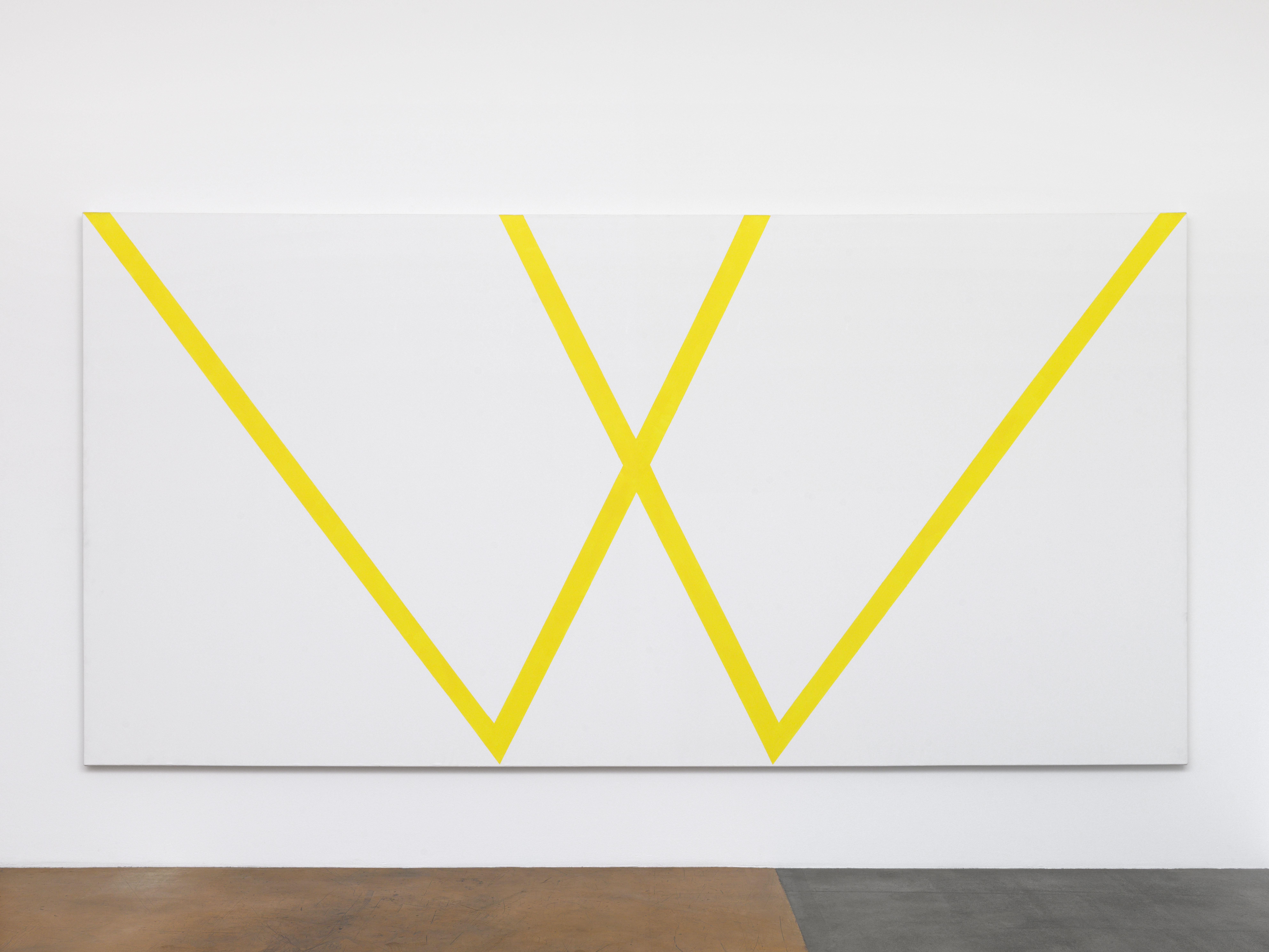 Olivier Mosset, Valuepack, 1986, acrylique sur toile, 210 x 420 cm / Photo credits: Annik Wetter–MAMCO Geneva