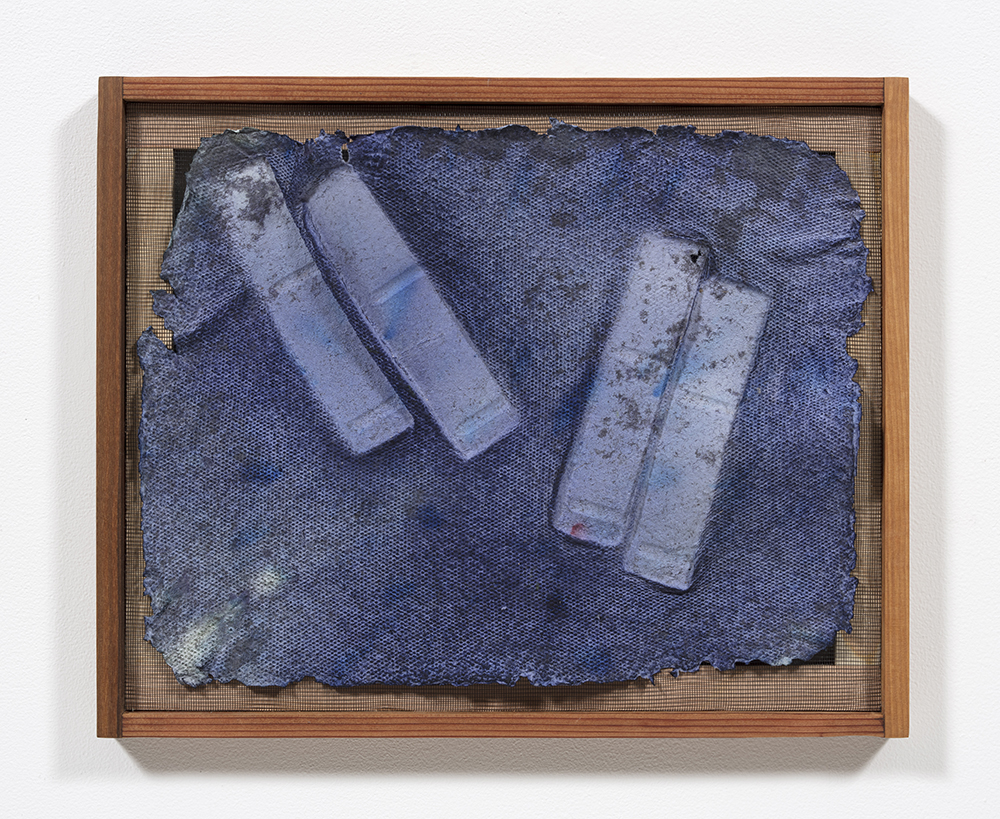 Aryana Minai, Echo VI, 2020, Dyed handmade paper in artist frame, 16 x 19 1/2 inches (40.6 x 49.5 cm) / Courtesy of the artist and Steve Turner, Los Angeles