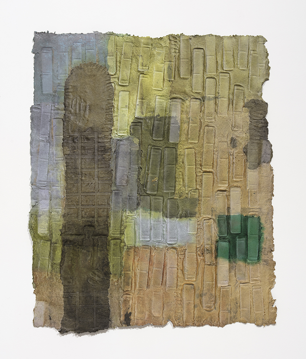 Aryana Minai, Down the street or Across the World, 2020 Dyed handmade paper