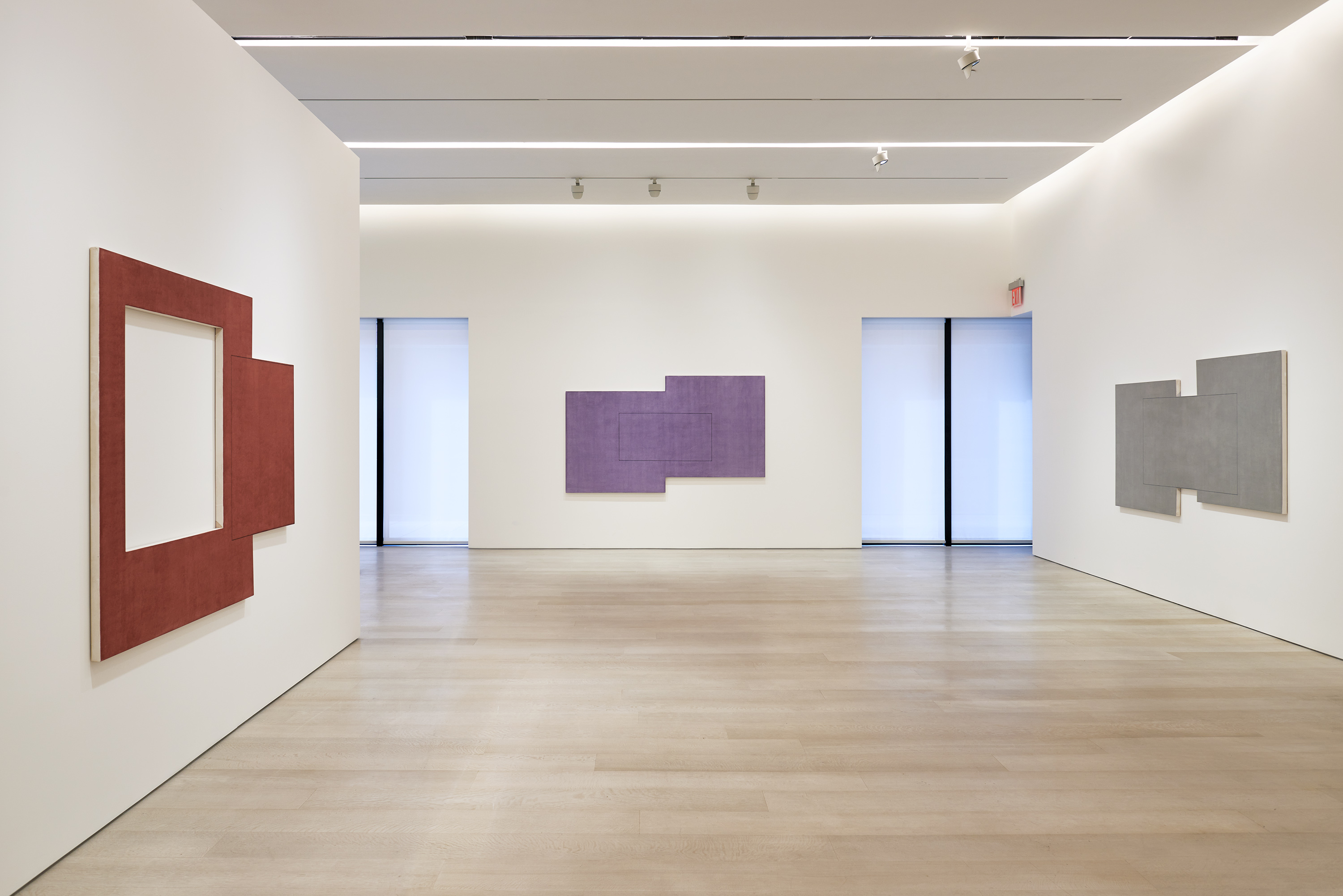 Installation view of Robert Mangold: Paintings 2017 - 2019 540 West 25th Street, New York September 18 – October 24 , 2020 Photography courtesy of Pace Gallery