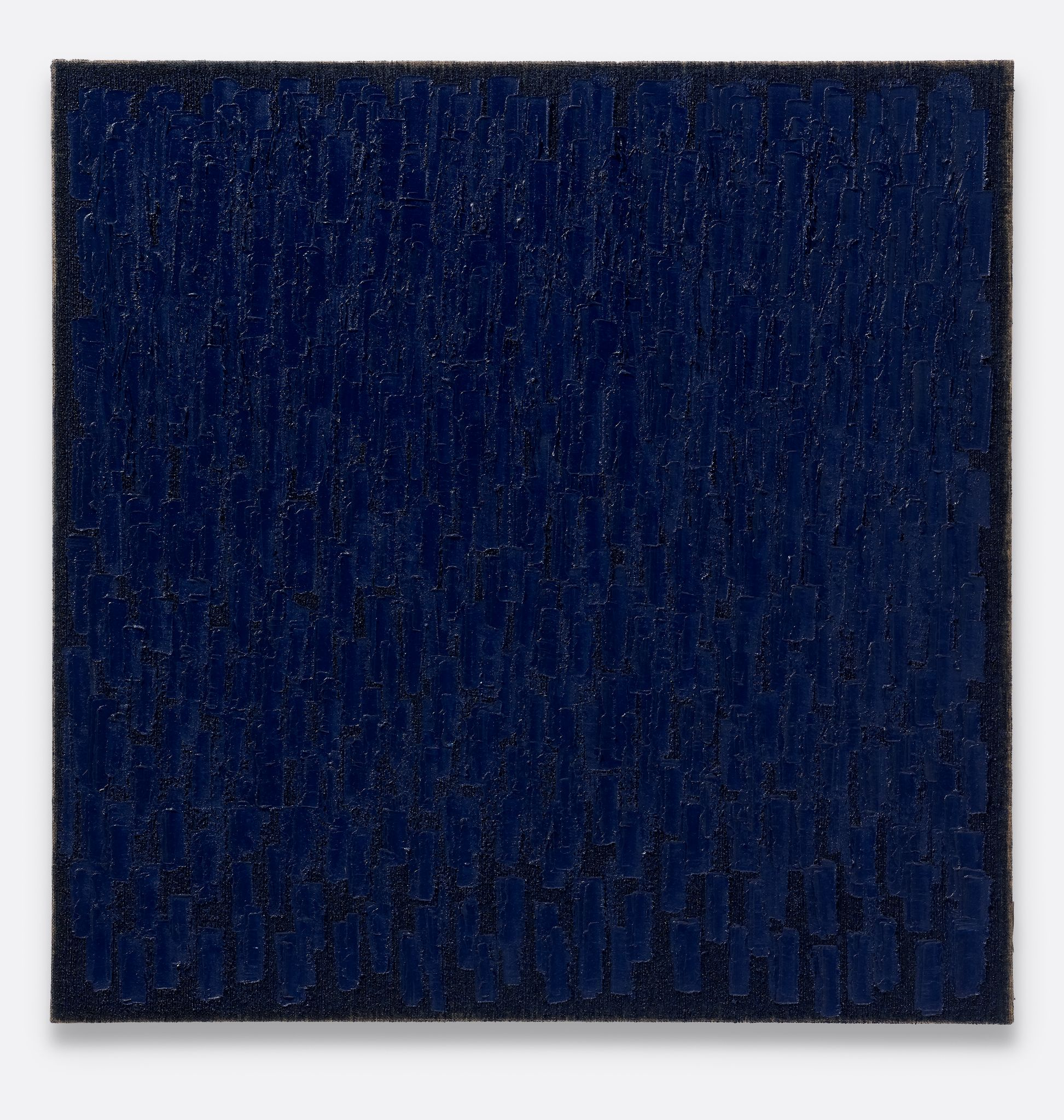 Ha Chong-Hyun, Conjunction 18-22, 2018, Oil on hemp cloth 180 x 180 cm, 70 7/8 x 70 7/8 in. Courtesy of the Artist and Almine Rech. © Ha Chong-Hyun Photography: Melissa Castro Duarte