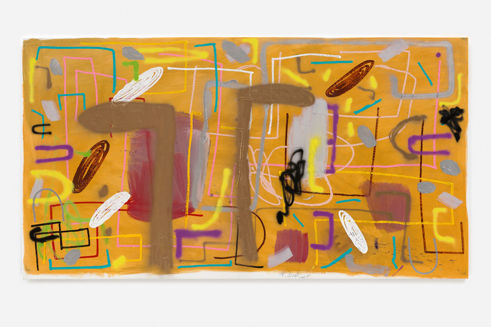 André Butzler, Untitled, 2019, acrylic on canvas, 155 x 286 cm.; 61 x 112 5/8 in. Courtesy of the artist and Max Hetzler. Photo: Claire Dorn