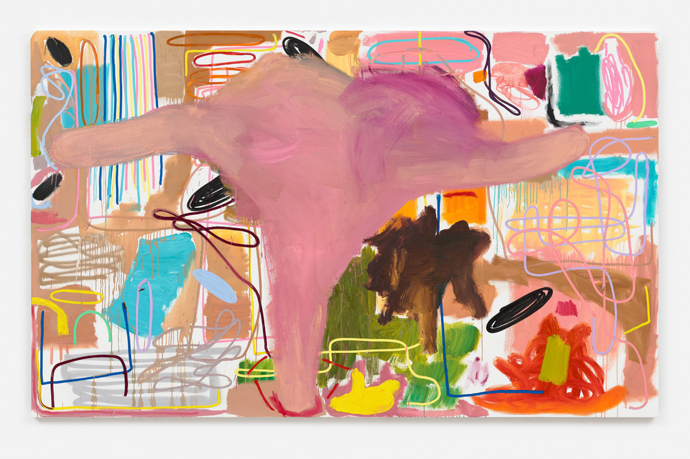 André Butzler, Edvard Munch Grablegung – Disneyland (Dumbo), 2019, oil on canvas, 170 x 275 cm.; 66 7/8 x 108 1/4 in. Courtesy of the artist and Max Hetzler. Photo: Claire Dorn