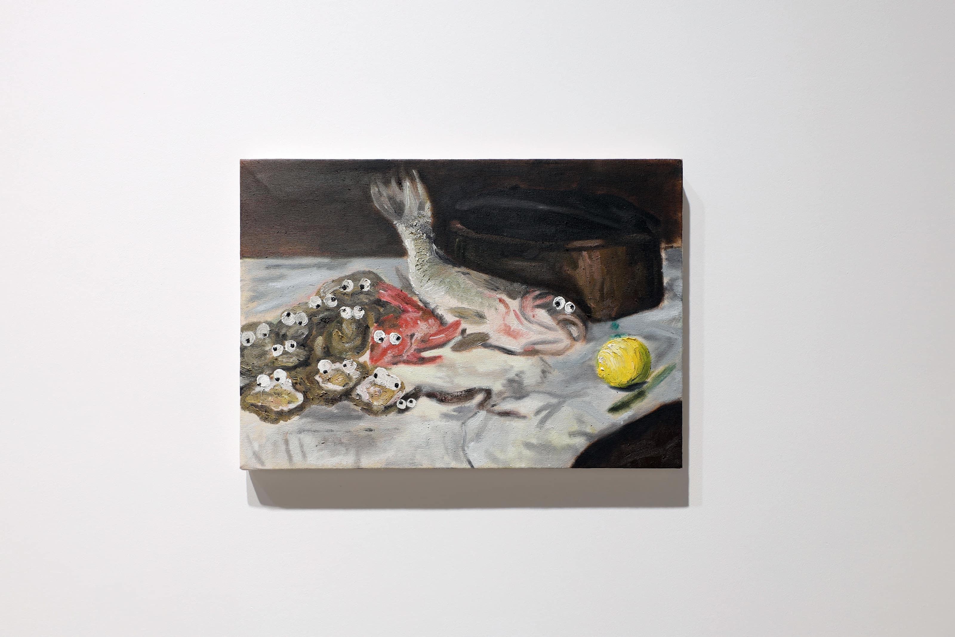 Charles Benjamin, La Menina, 2020, oil and objects on canvas, 170 x 200 x 7.5cm