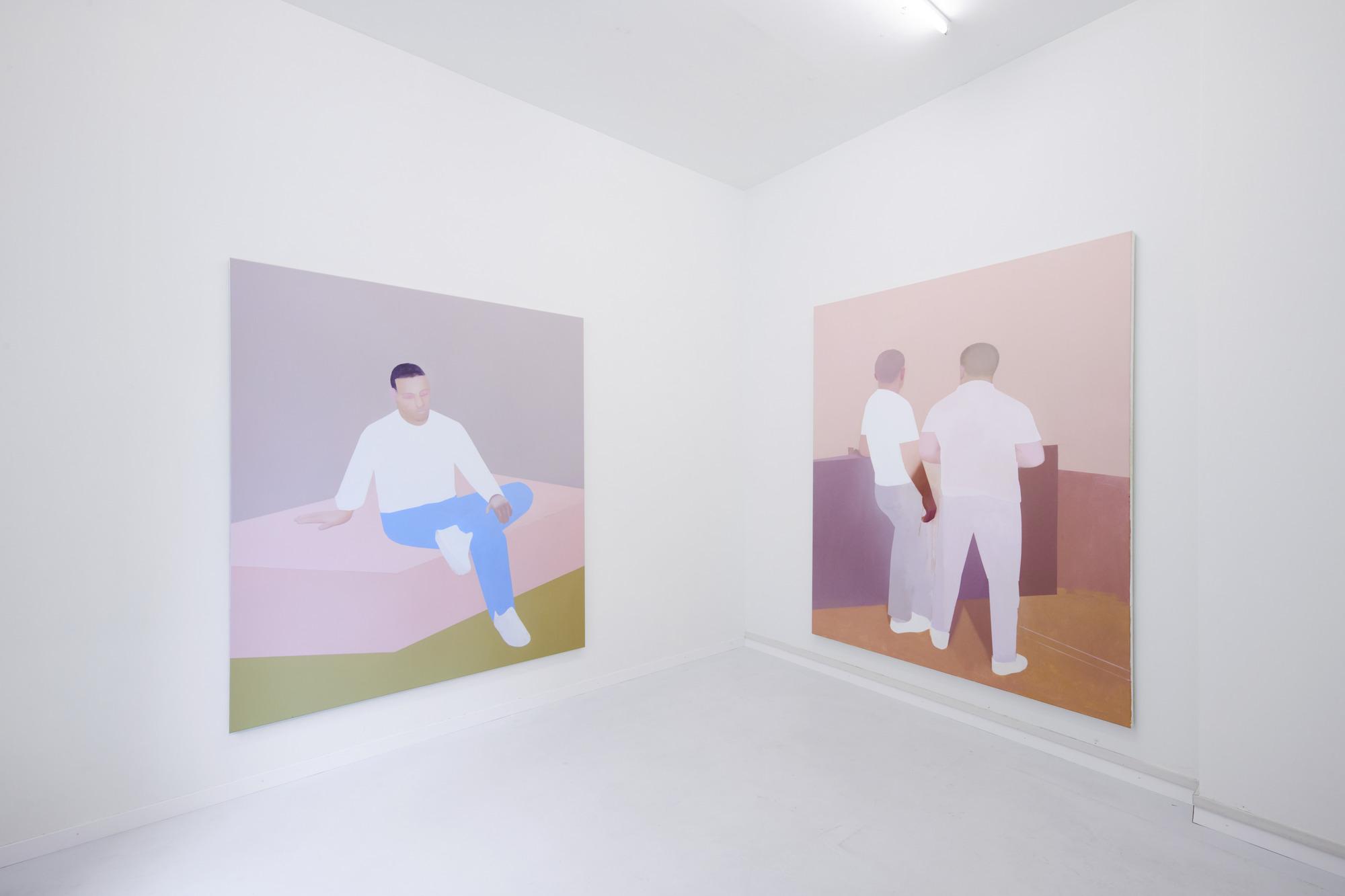 Manuel Stehli, untitled, 2020, 200×170 cm, oil on canvas & untitled, 2019, 220×170 cm, oil on canvas, Courtesy of the artist and Lemoyne