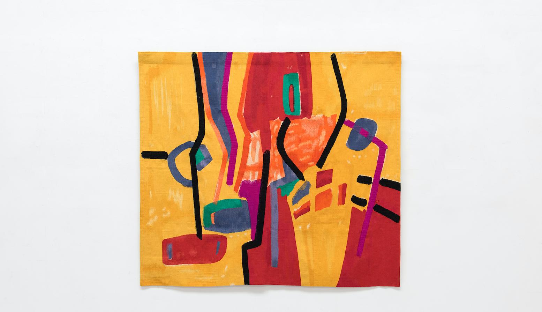 Matinée récréative, 1970 / 2015 Wool tapestry, © Etel Adnan