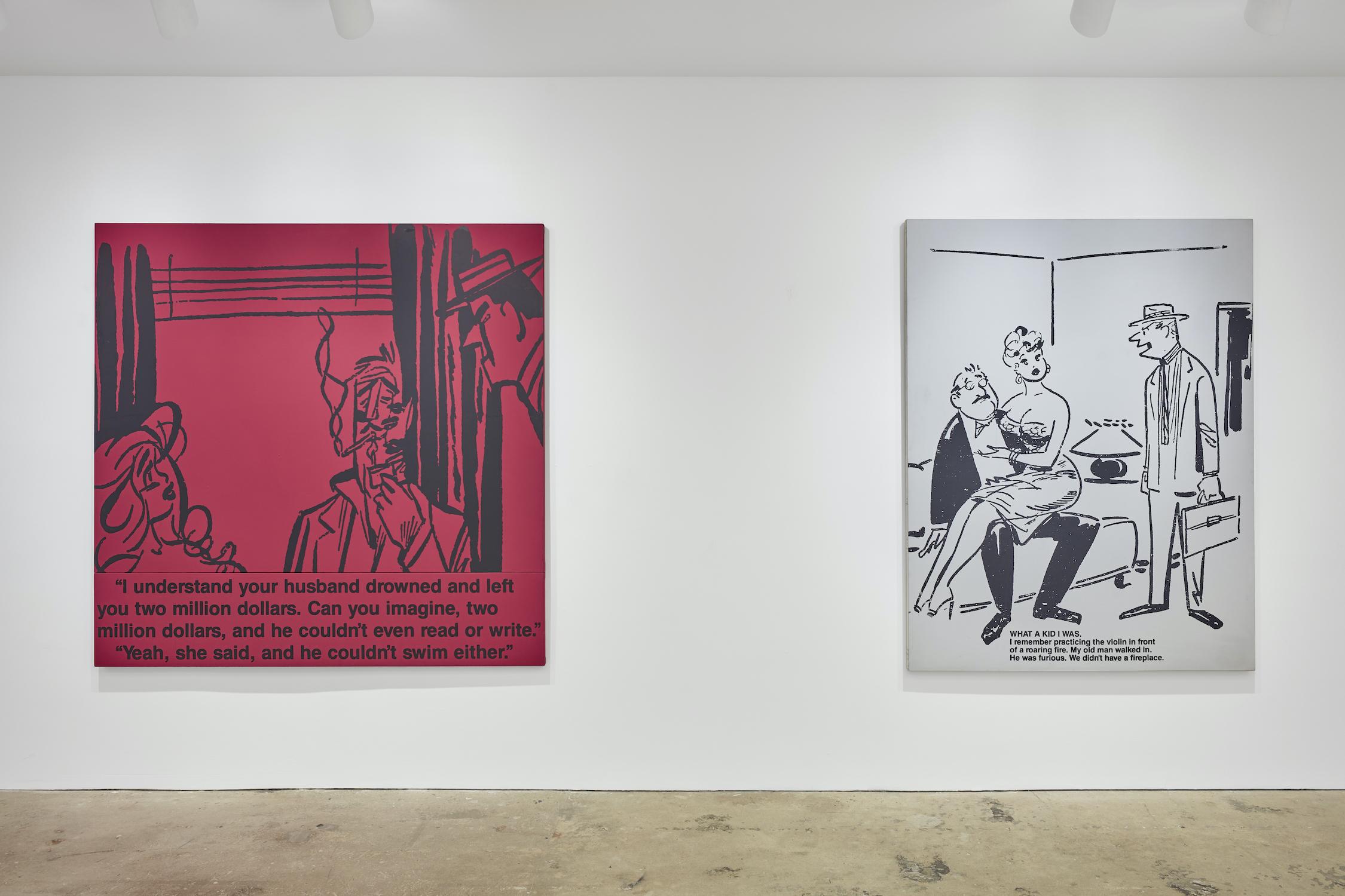 Installation view 5, Richard Prince: Cartoon Jokes, 2020, Courtesy of Nahmad Contemporary