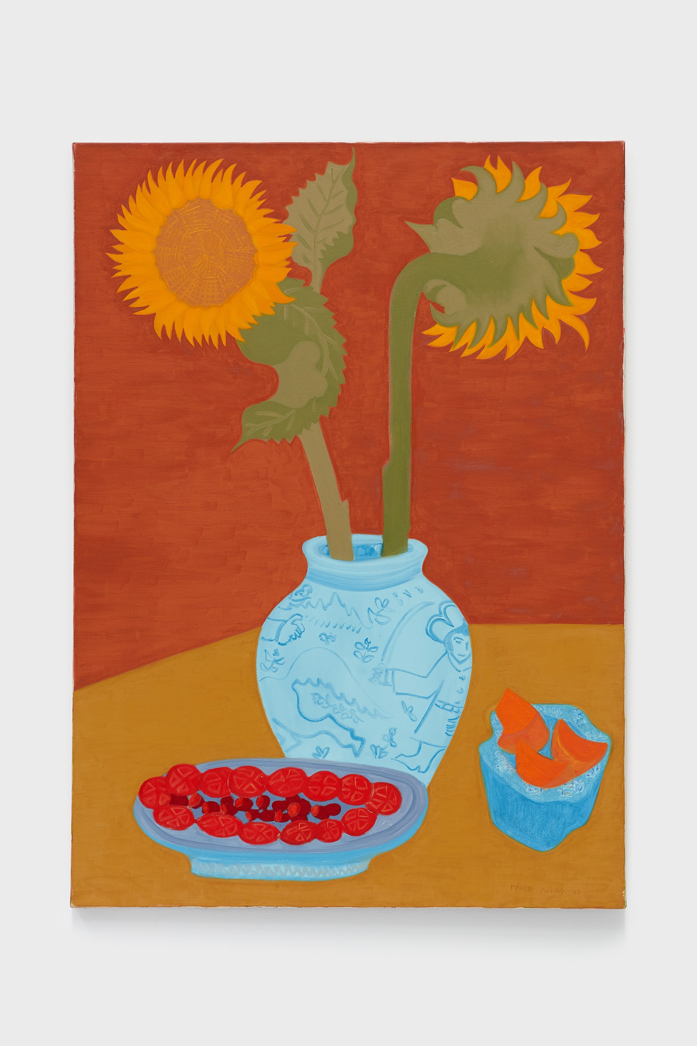 March Avery Sunflower Bouquet, 1983 Oil on canvas 50 x 36 inches © March Avery, Courtesy of the artist and Blum & Poe, Los Angeles/New York/Tokyo (Filename for internal reference: MAV 57)