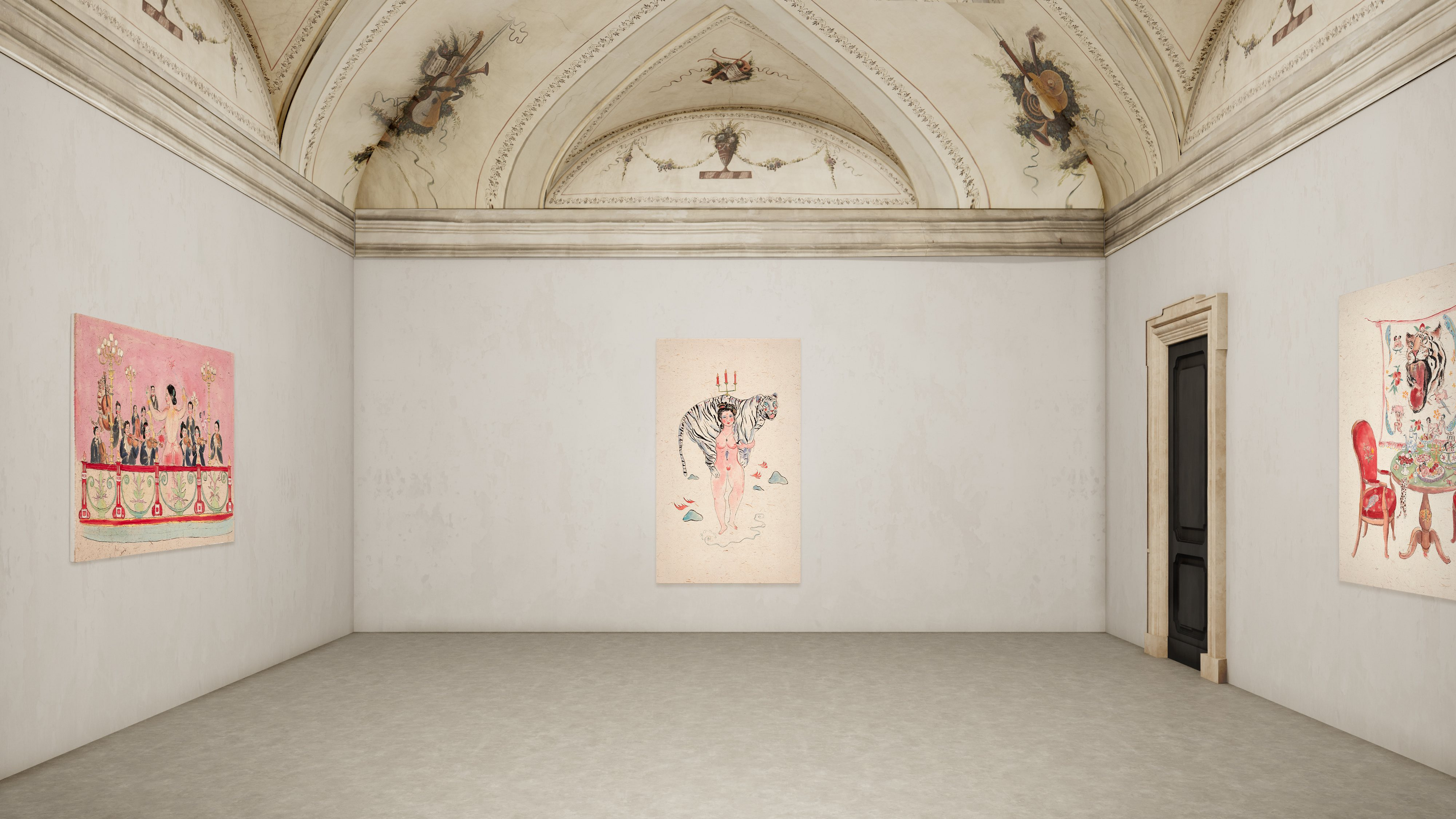 Shafei Xia, Welcome to my show, installation view, Courtesy P420, Bologna