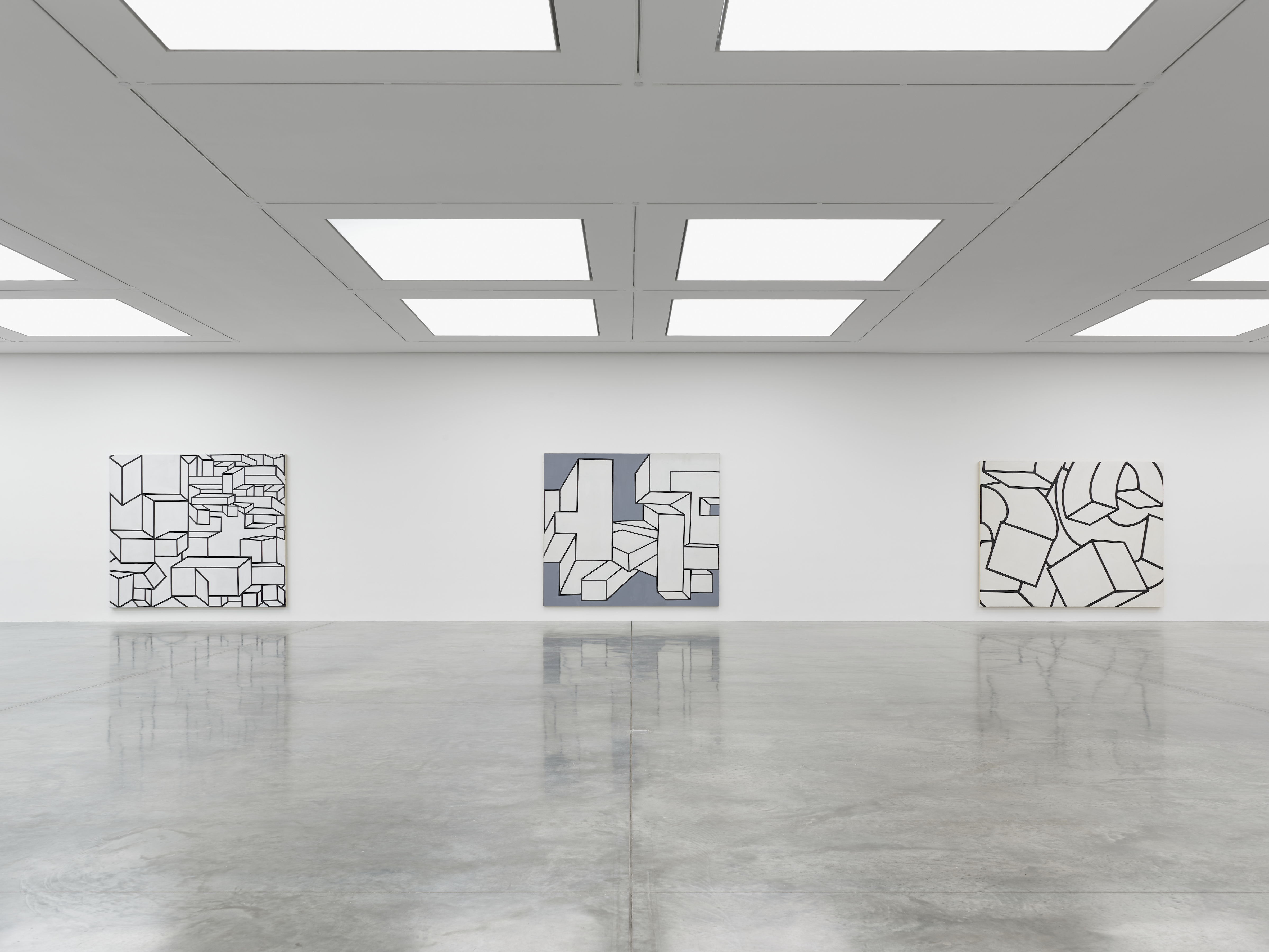 Installation view 3, 'Al Held: The Sixties' © the artist. Photo © White Cube (Theo Christelis)