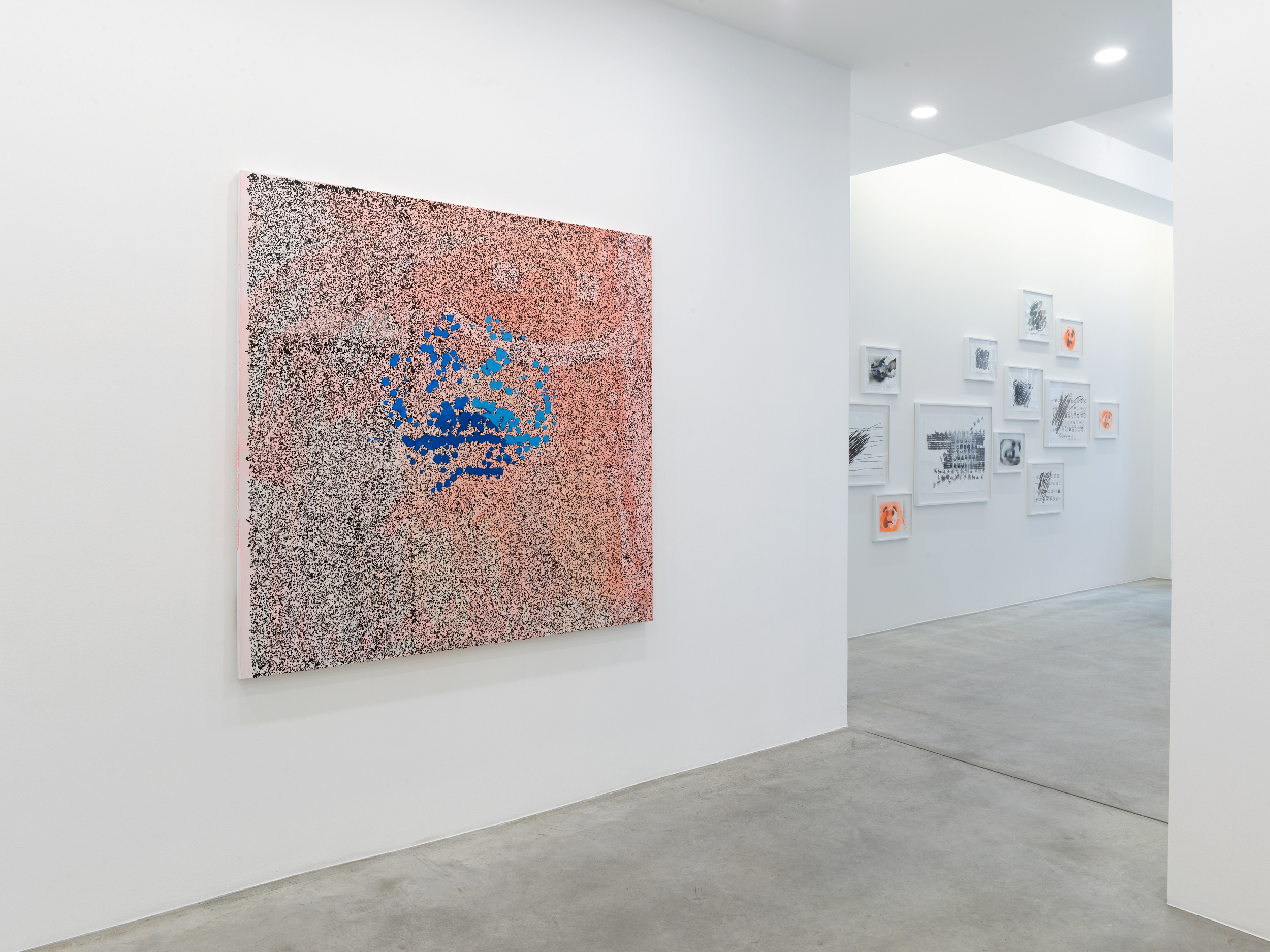 Installation view, © Jacqueline Humphries, courtesy Galerie Gisela Capitain, Cologne Photo: Simon Vogel