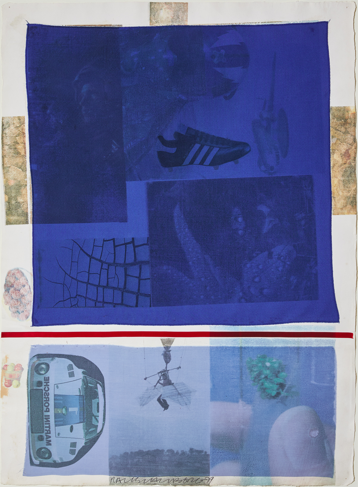 Award, Robert Rauschenberg, 1979, solvent transfer on fabric collaged on paper, 81.3 x 59.7 cm © Robert Rauschenberg Foundation licensed by DACS London.