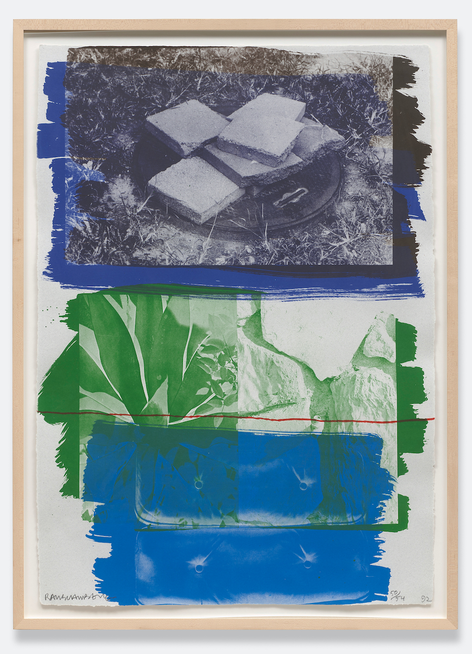 Viaduct, 1991, 5-colour lithograph on paper, 103 x 73.7 cm © Robert Rauschenberg Foundation licensed by DACS London.