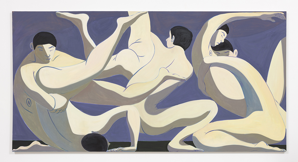 Mark Yang Fall, 2020 Oil on canvas 62 x 120 inches (157.5 x 304.8 cm)