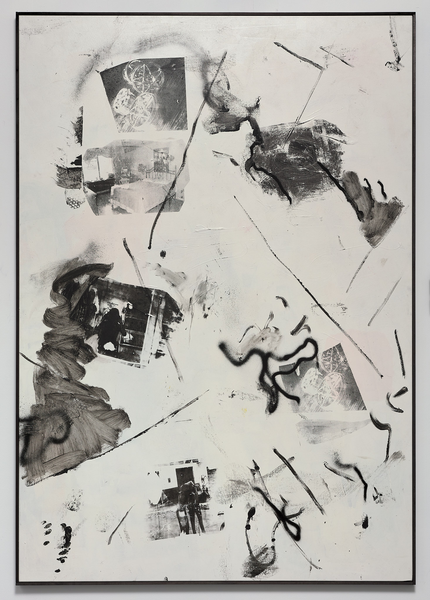 What I Claim, 2012 silkscreen, acrylic, lacquer on canvas 200 140cm