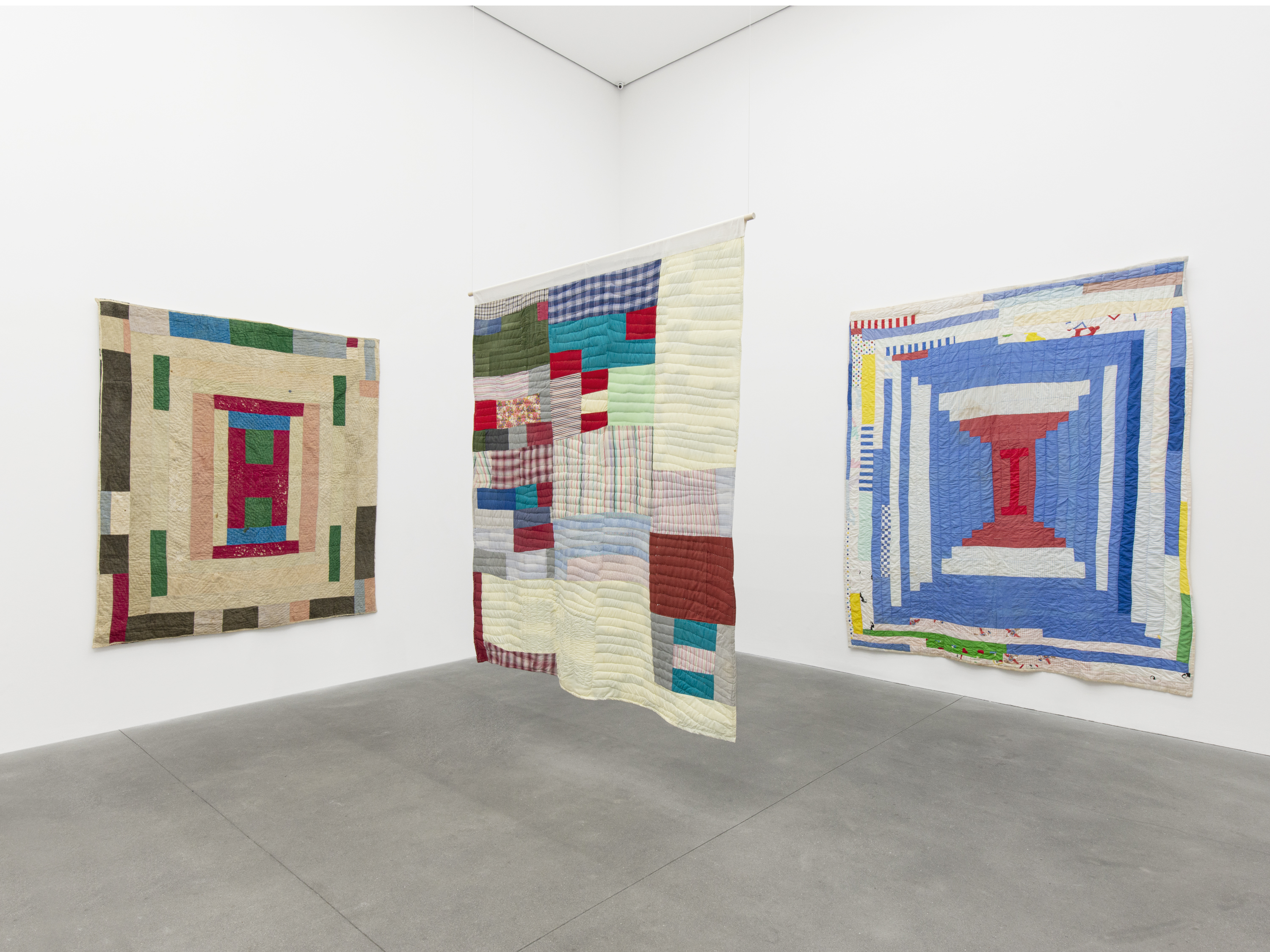 Installation View 1, THE GEE'S BEND QUILTMAKERS, Alison Jacques Gallery, 2021, All images courtesy of Alison Jacques Gallery