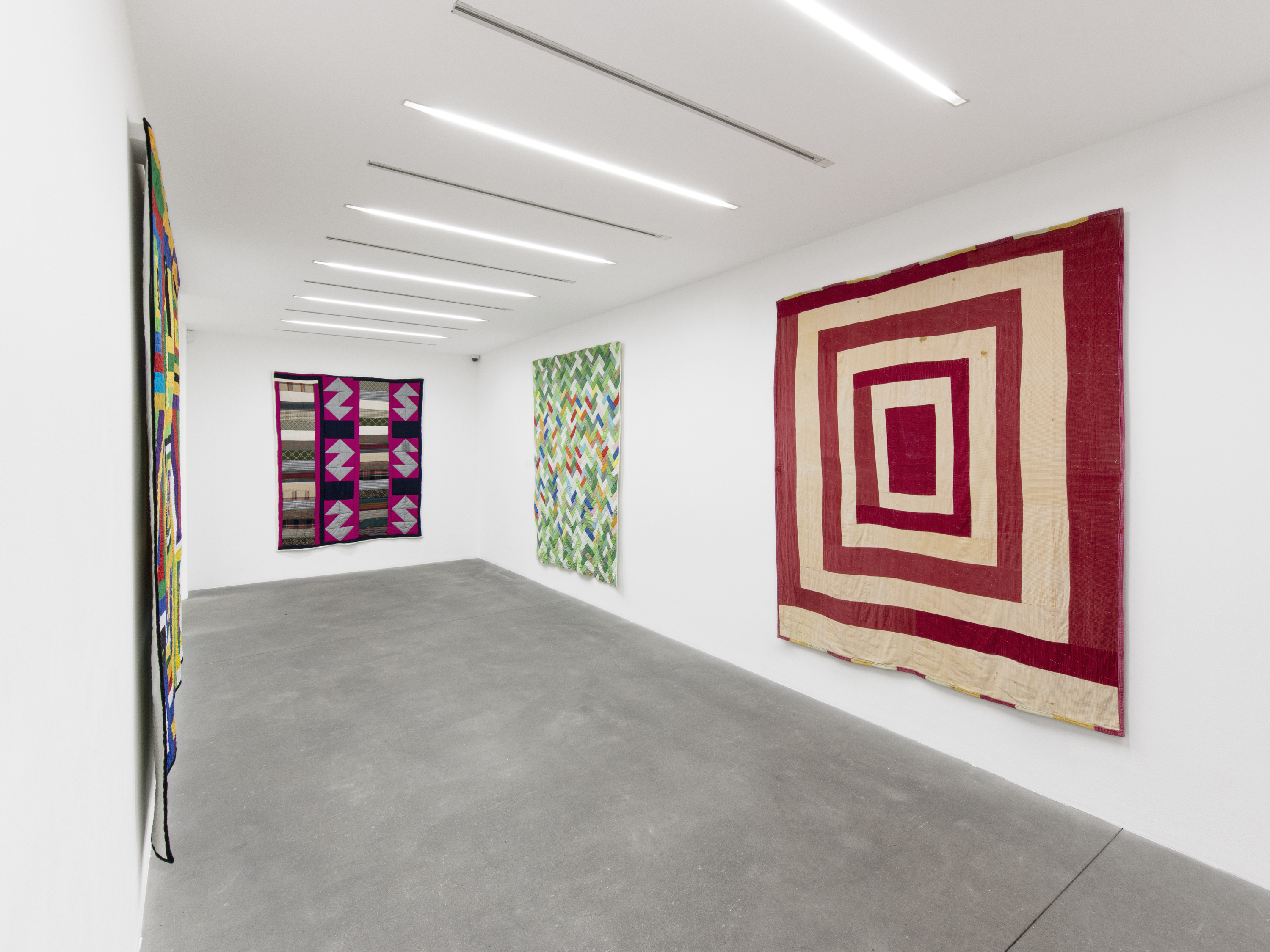 Installation View 3, THE GEE'S BEND QUILTMAKERS, Alison Jacques Gallery, 2021, All images courtesy of Alison Jacques Gallery