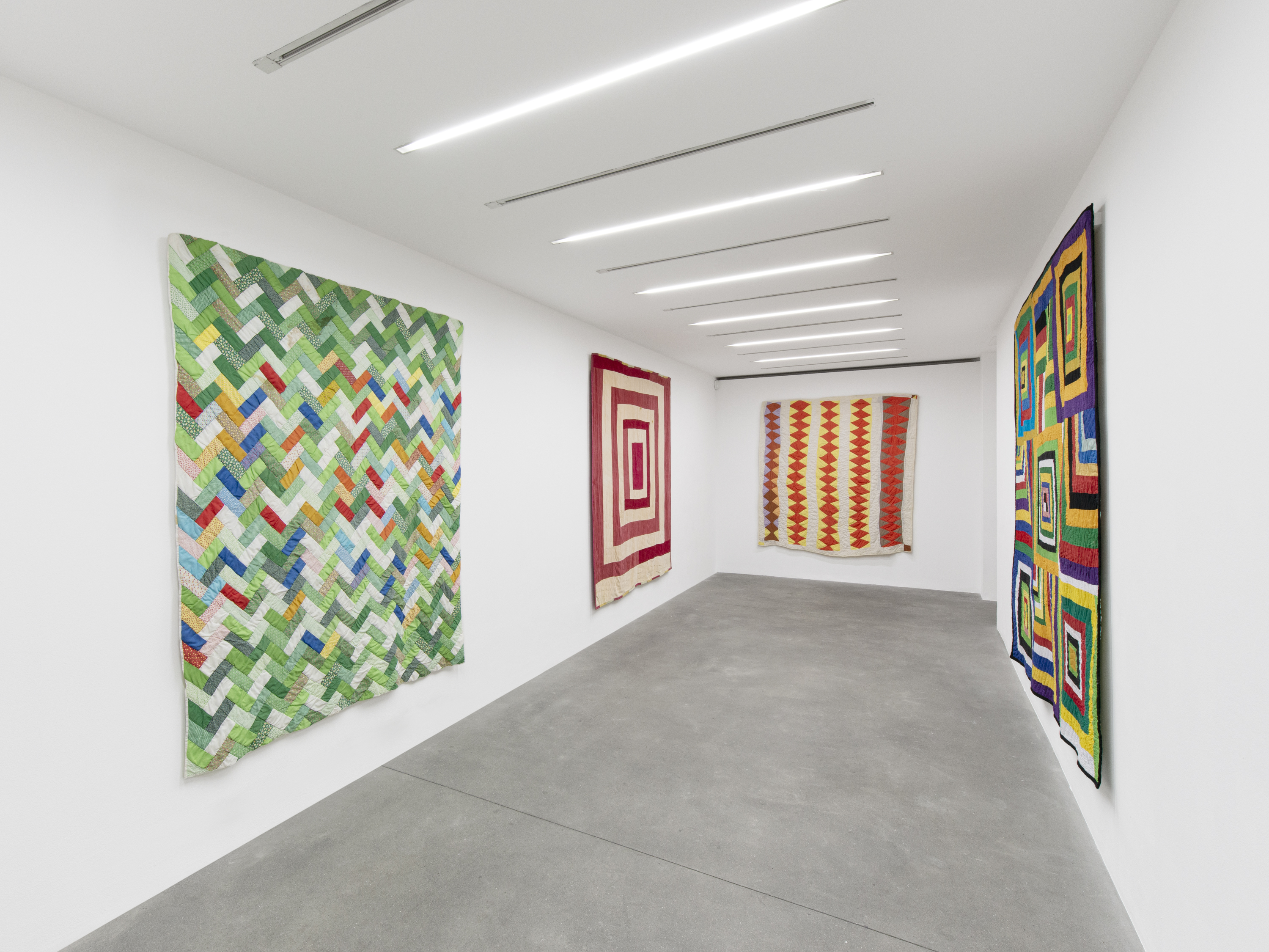 Installation View 4, THE GEE'S BEND QUILTMAKERS, Alison Jacques Gallery, 2021, All images courtesy of Alison Jacques Gallery