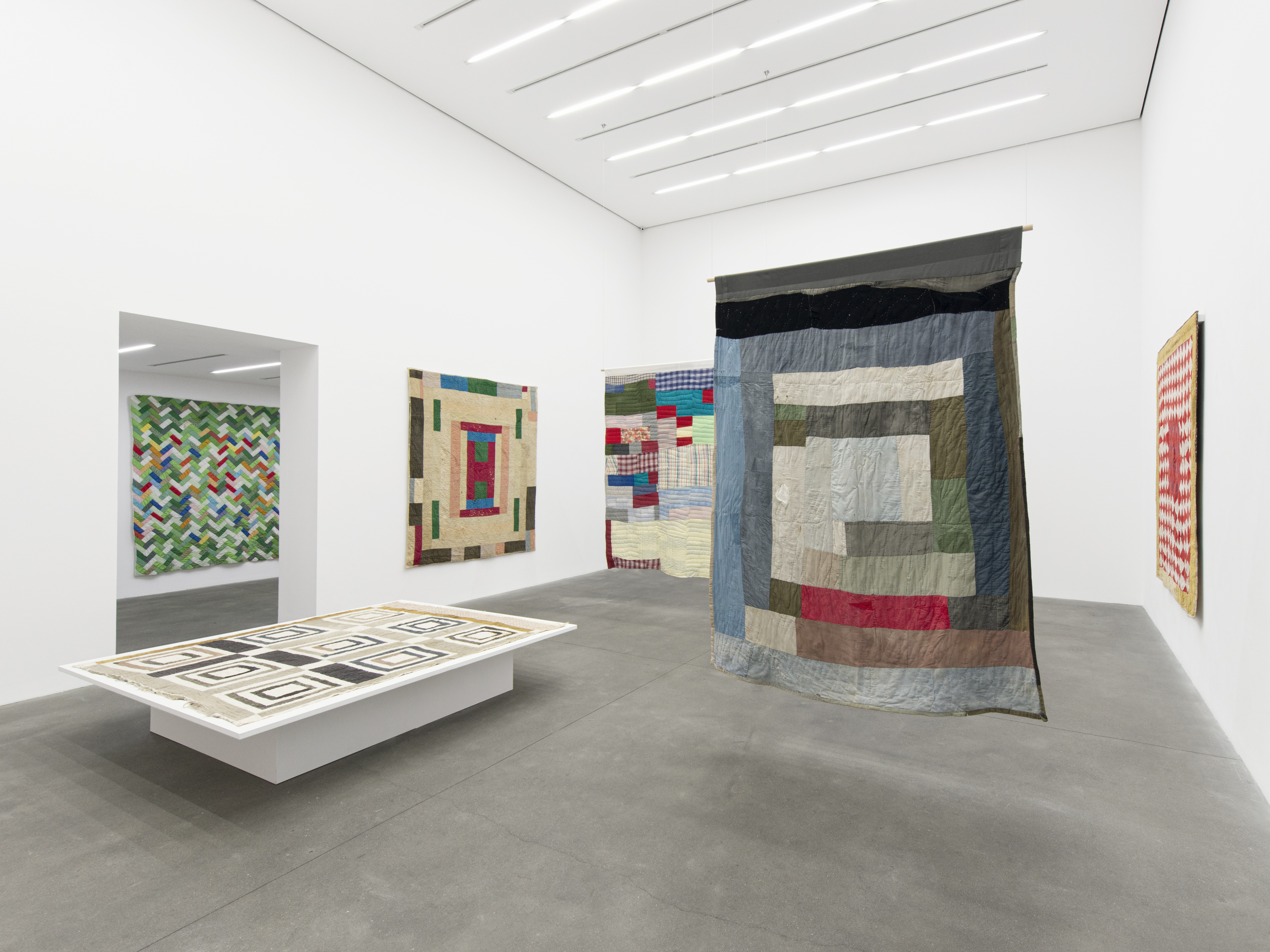 Installation View 5, THE GEE'S BEND QUILTMAKERS, Alison Jacques Gallery, 2021, All images courtesy of Alison Jacques Gallery