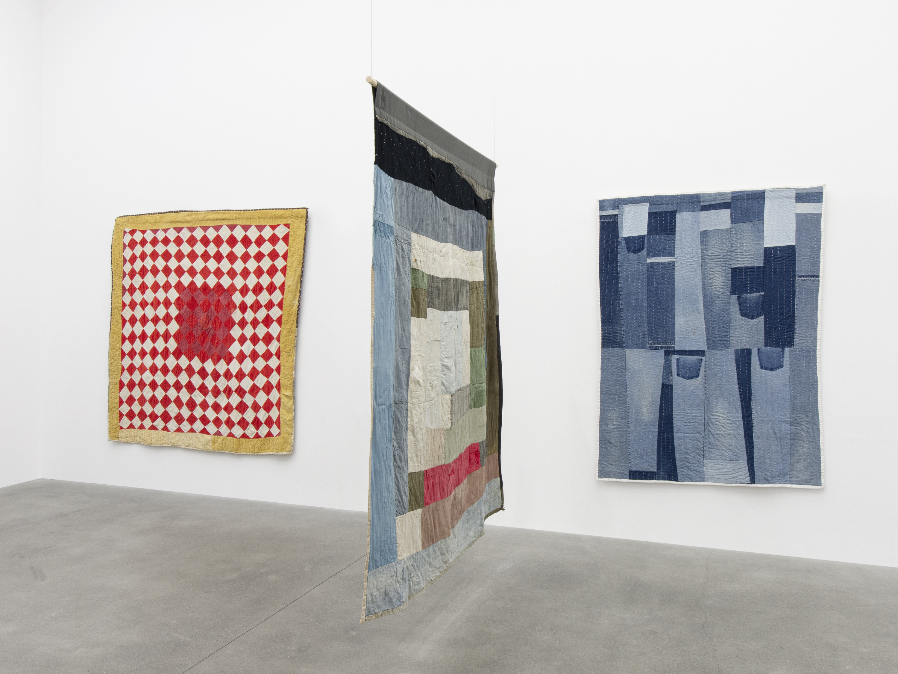 Installation View 7, THE GEE'S BEND QUILTMAKERS, Alison Jacques Gallery, 2021, All images courtesy of Alison Jacques Gallery