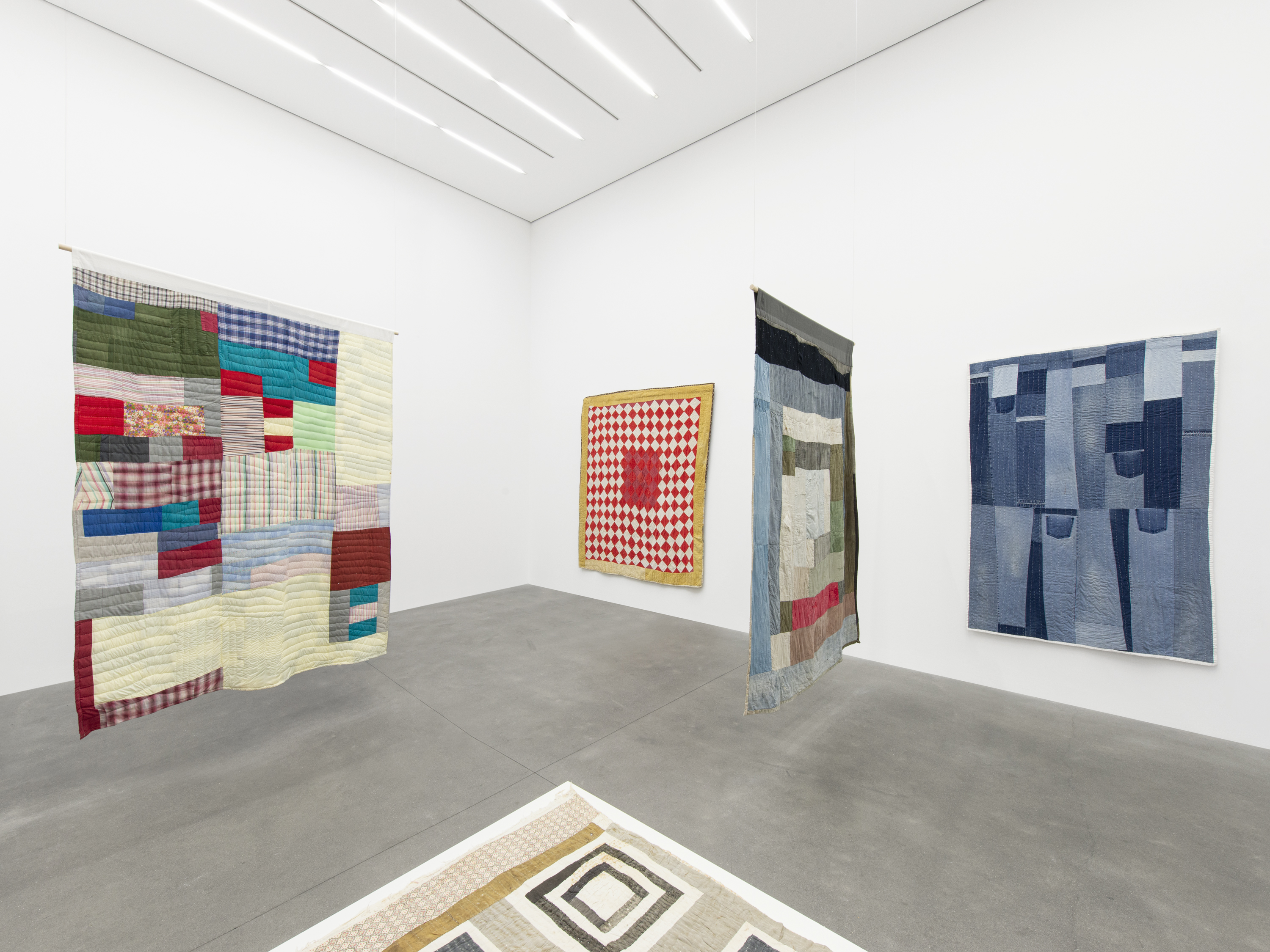 Installation View 8, THE GEE'S BEND QUILTMAKERS, Alison Jacques Gallery, 2021, All images courtesy of Alison Jacques Gallery