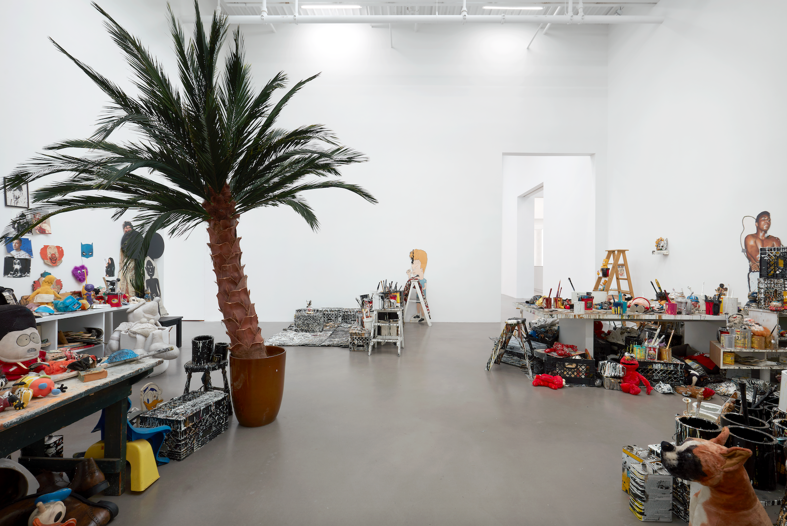 Installation View, Fuggetabout It (Redux), Courtesy of The Joyce Pensato Estate and Petzel, New York, Photo: Thomas Mueller