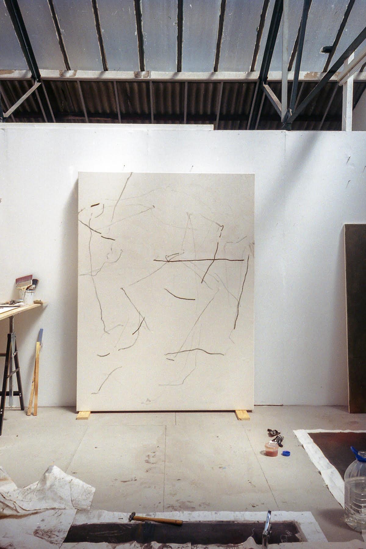 Struan Teague artist studio