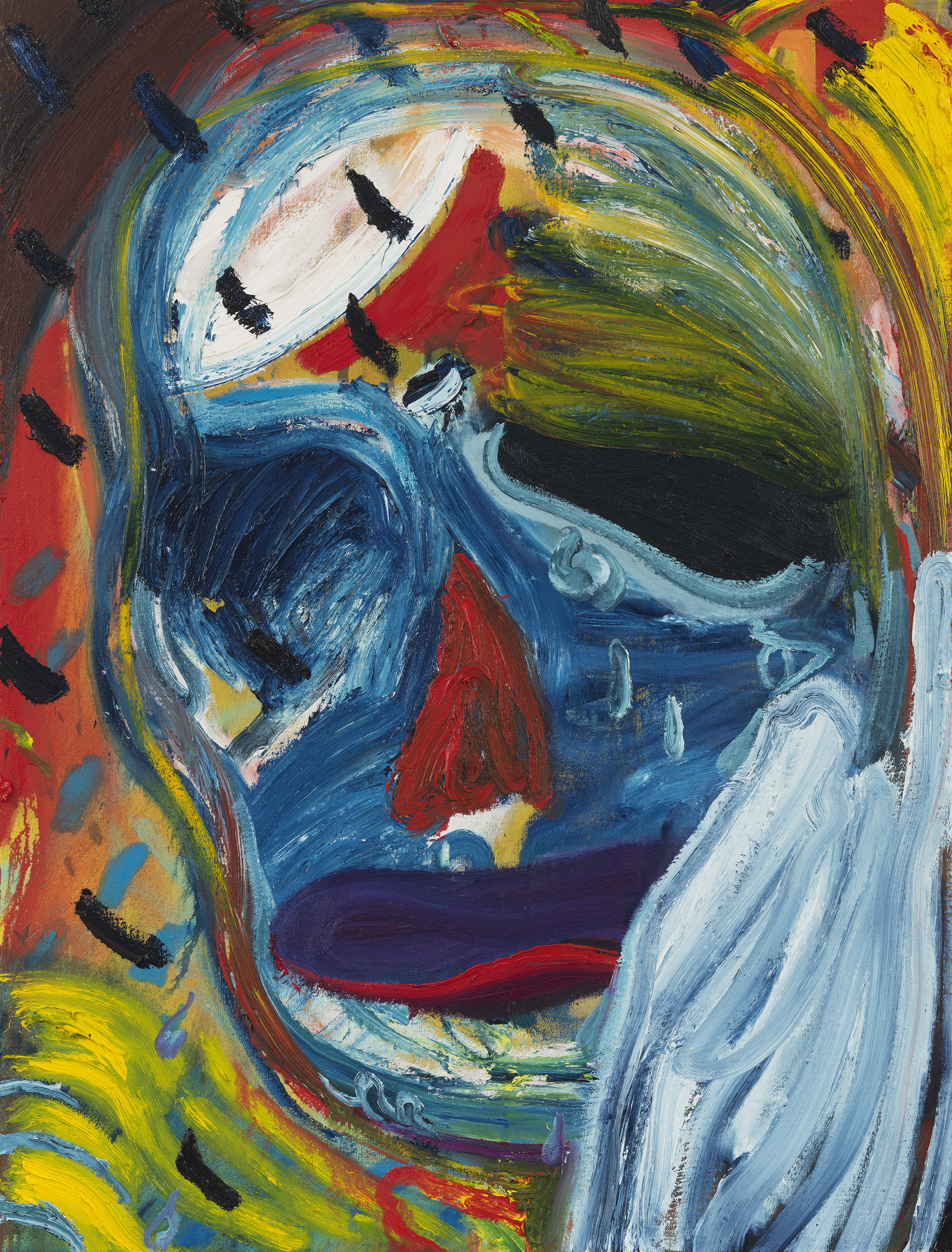 Weeping Ghoul, 2021 Oil on linen 40 x 30 1/2 x 1 3/8 in 101.6 x 77.5 x 3.5 cm © Spencer Sweeney Photo: Robert McKeever Courtesy Gagosian