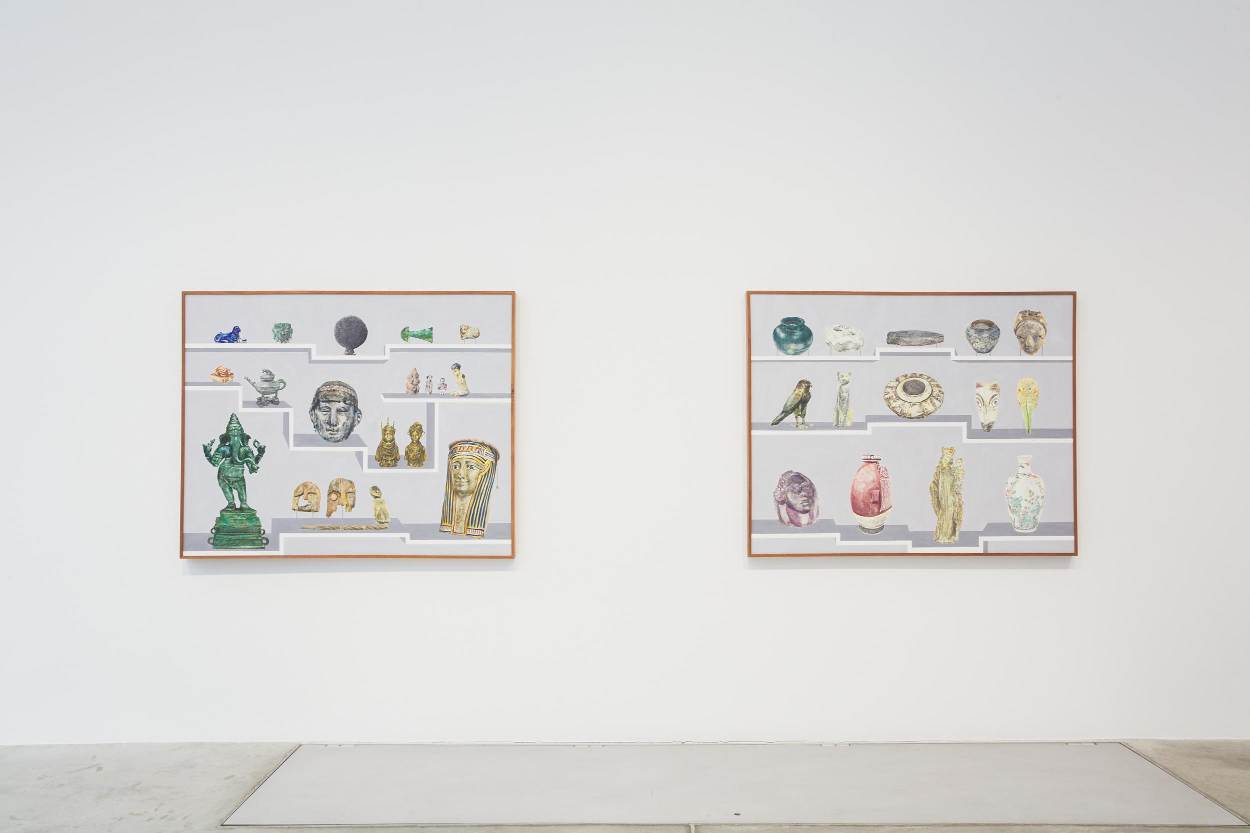 """Springweather and people, installation view, Bortolami, New York, 2021. Image courtesy Bortolami, New York. Photography by Kristian Laudrup."""