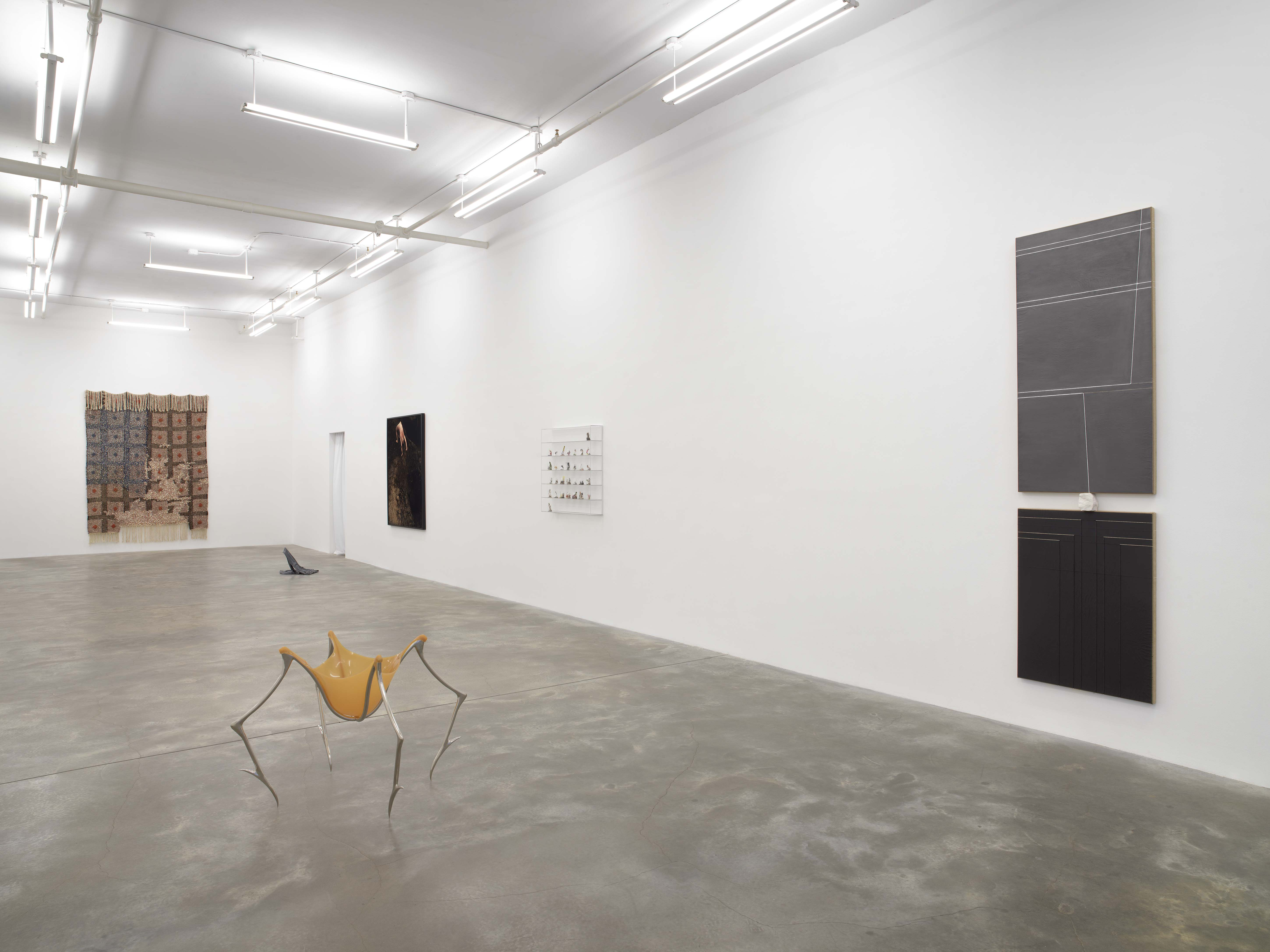 Installation view: Where the Threads Are Worn, March 18 - April 24, 2021, Casey Kaplan, New York, Photo: Dario Lasagni