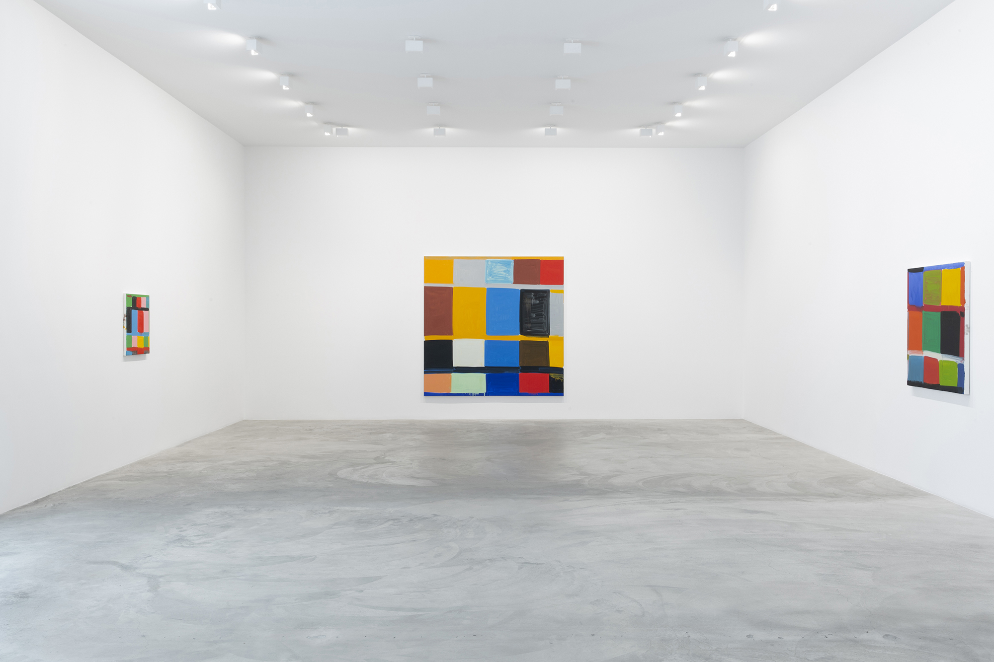 Installation View, How Black is That Blue, 2021 ©Stanley Whitney, Courtesy Matthew Marks Gallery