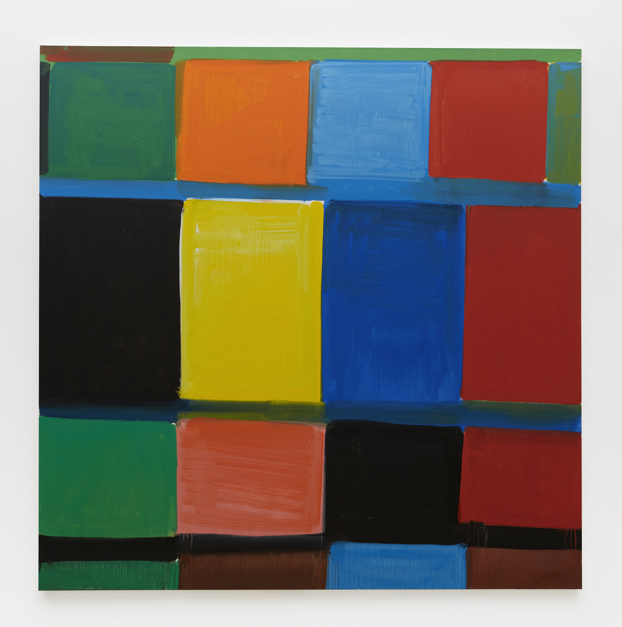 How Black is That Blue, 2020 Oil on linen 72 x 72 inches 183 x 183 cm ©Stanley Whitney, Courtesy Matthew Marks Gallery
