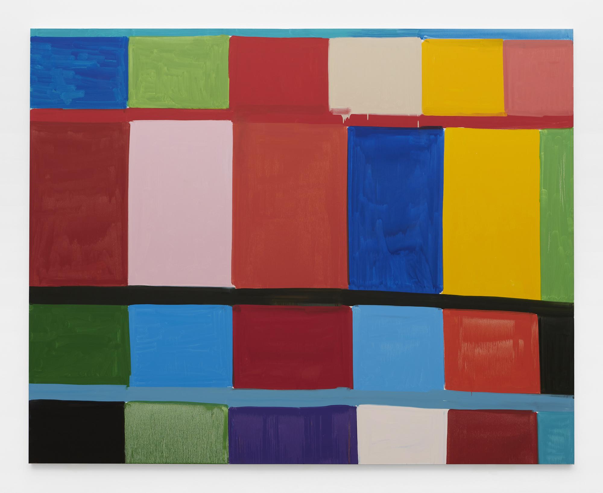 Twenty twenty, 2020 Oil on linen 96 x 120 inches 244 x 305 cm ©Stanley Whitney, Courtesy Matthew Marks Gallery