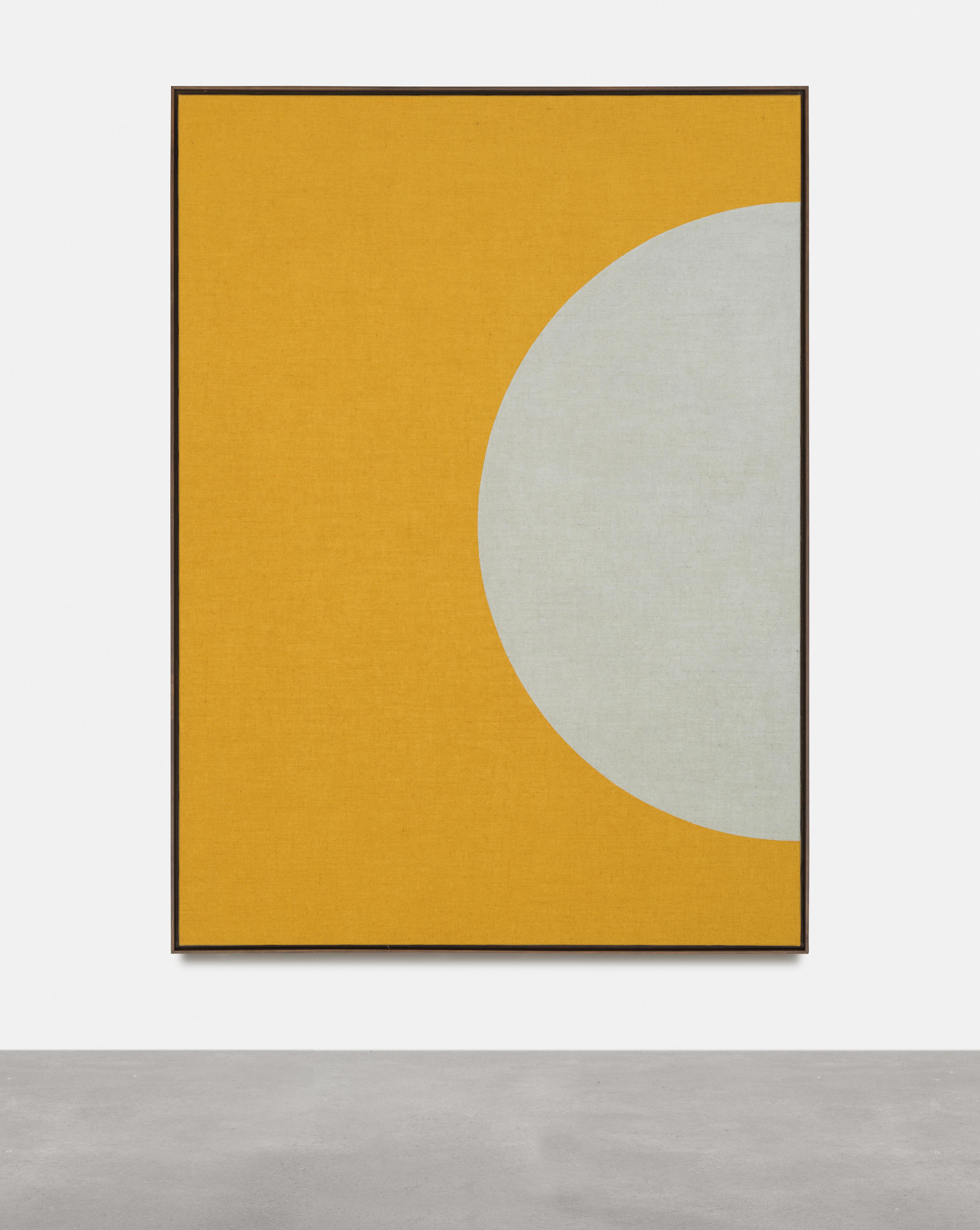 Antonio Ballester Moreno Half Sun, 2021 Acrylic on jute 200×145 cm Unique