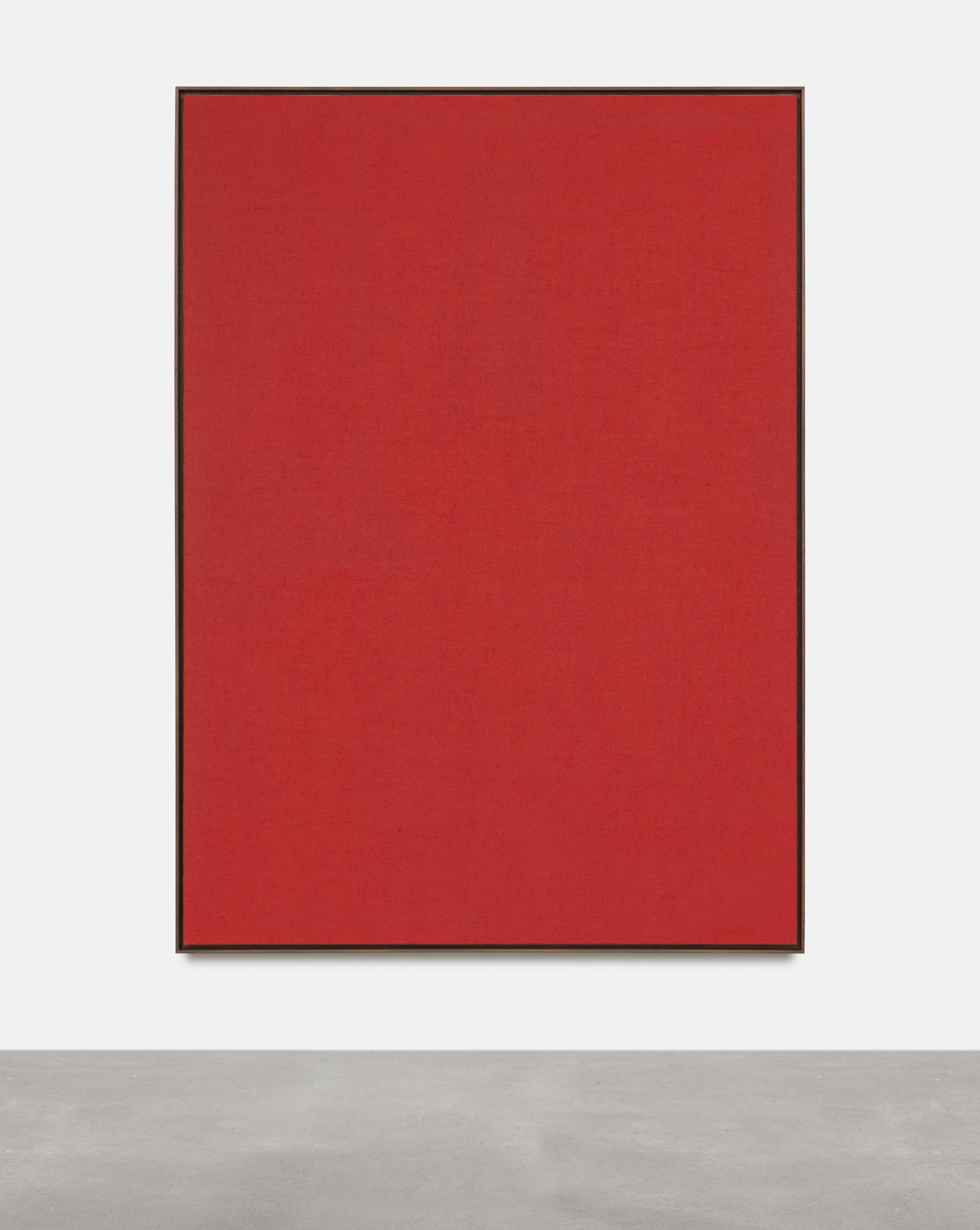 Antonio Ballester Moreno Red, 2021 Acrylic on jute 200×145 cm, Unique.
