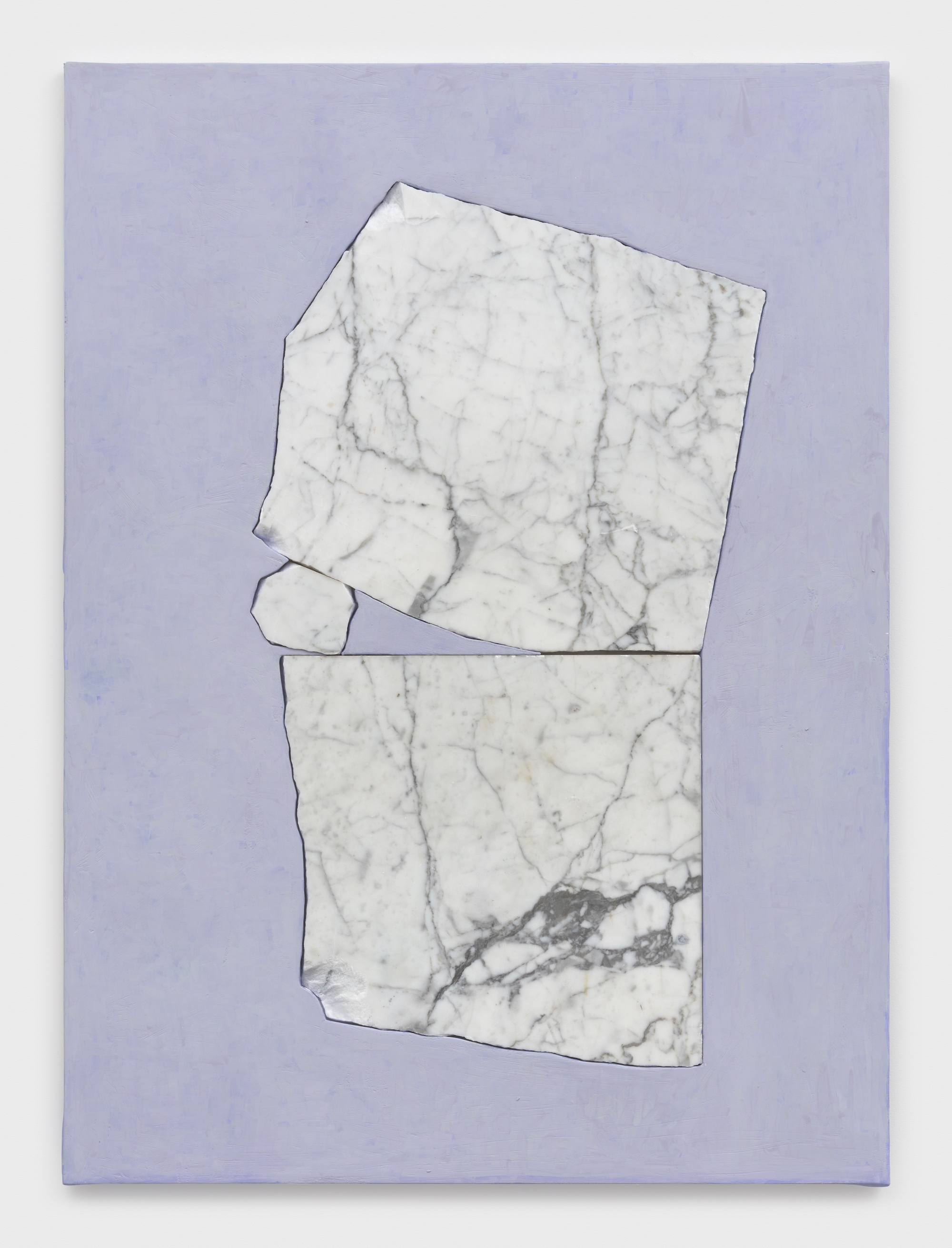 Sam Moyer Trouble Mind, 2021 marble, acrylic on plaster-coated canvas mounted to MDF 46 x 34 x 1 inches (116.8 x 86.4 x 2.5 cm) © Sam Moyer Photo: JSP Art Photography Courtesy: the artist and Sean Kelly, New York