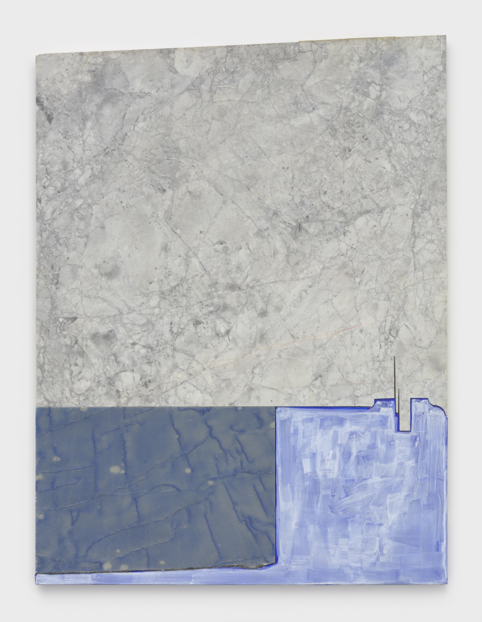 Sam Moyer April City, 2021 marble, acrylic on plaster-coated canvas mounted to MDF 51 x 38 x 1 inches (129.5 x 96.5 x 2.5 cm) © Sam Moyer Photo: JSP Art Photography Courtesy: the artist and Sean Kelly, New York