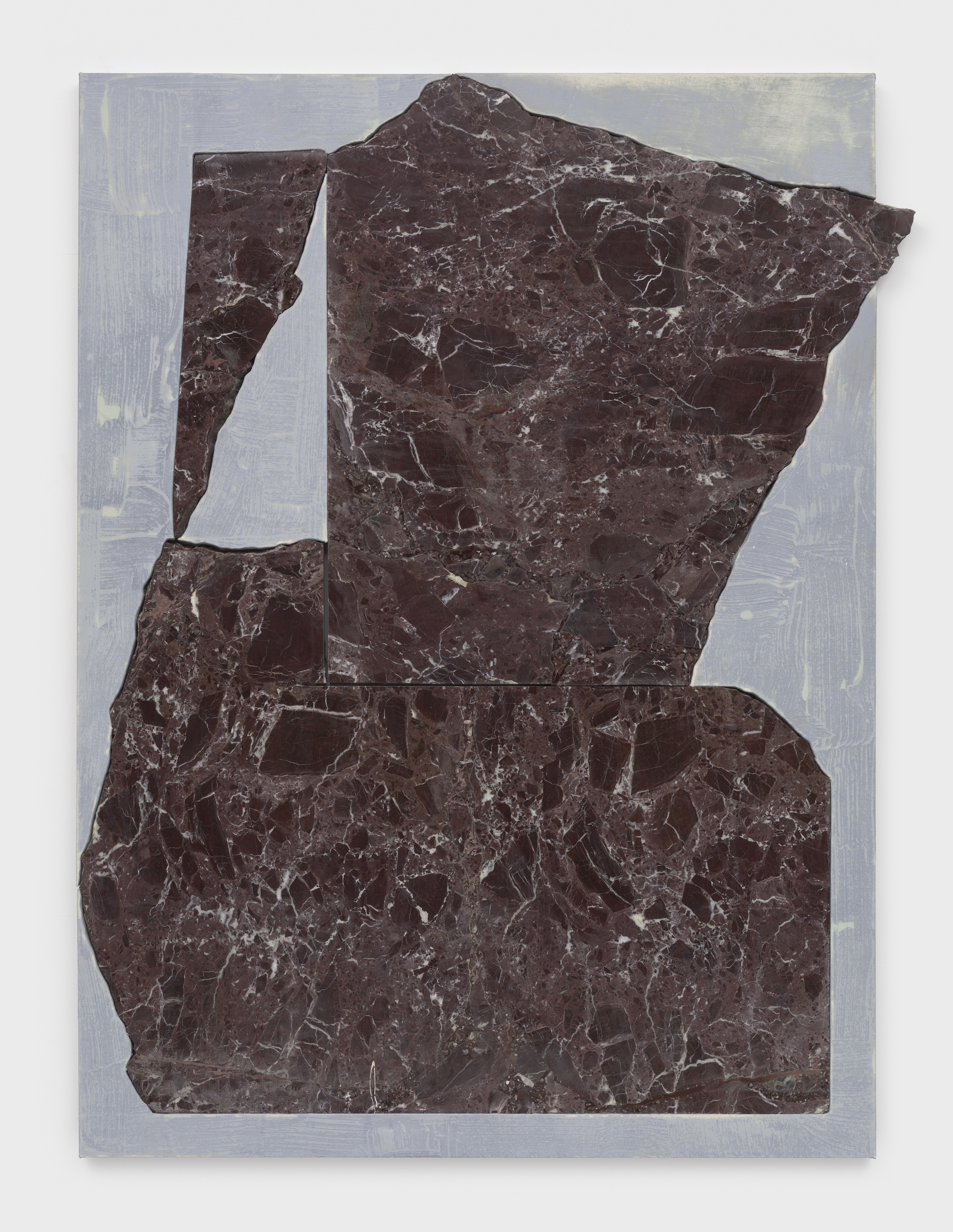 Sam Moyer Little Pitcher, 2020 marble, acrylic on plaster-coated canvas mounted to MDF 52 x 40 1/4 x 1 inches (132.1 x 102.2 x 2.5 cm) © Sam Moyer Photo: JSP Art Photography Courtesy: the artist and Sean Kelly, New York