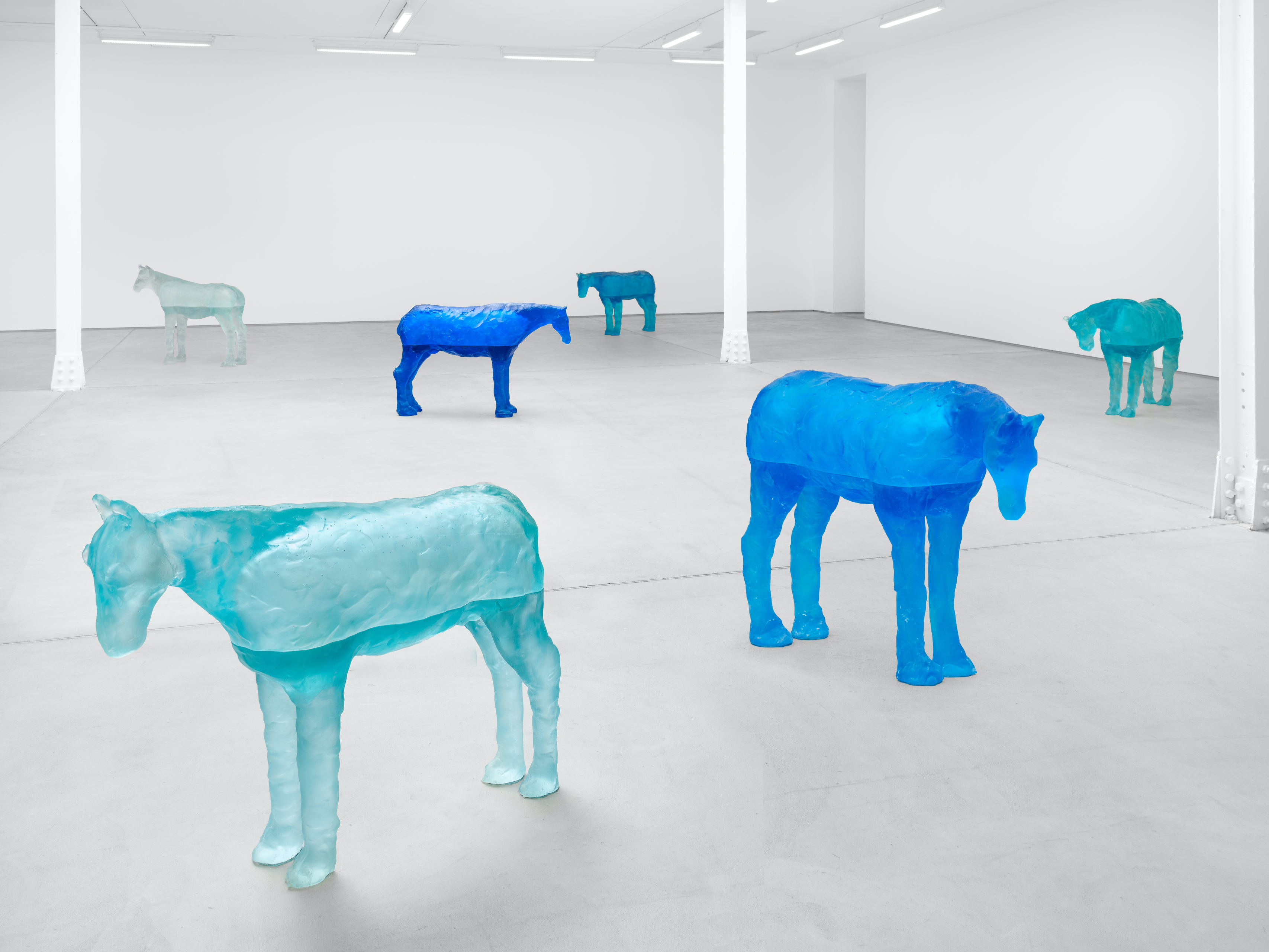 Installation view, Ugo Rondinone, a sky . a sea . distant mountains . horses . spring . at Sadie Coles HQ, 62 Kingly Street, London, 12 April - 22 May 2021 Credit: © Ugo Rondinone, courtesy Sadie Coles HQ, London. Photo: Eva Herzog