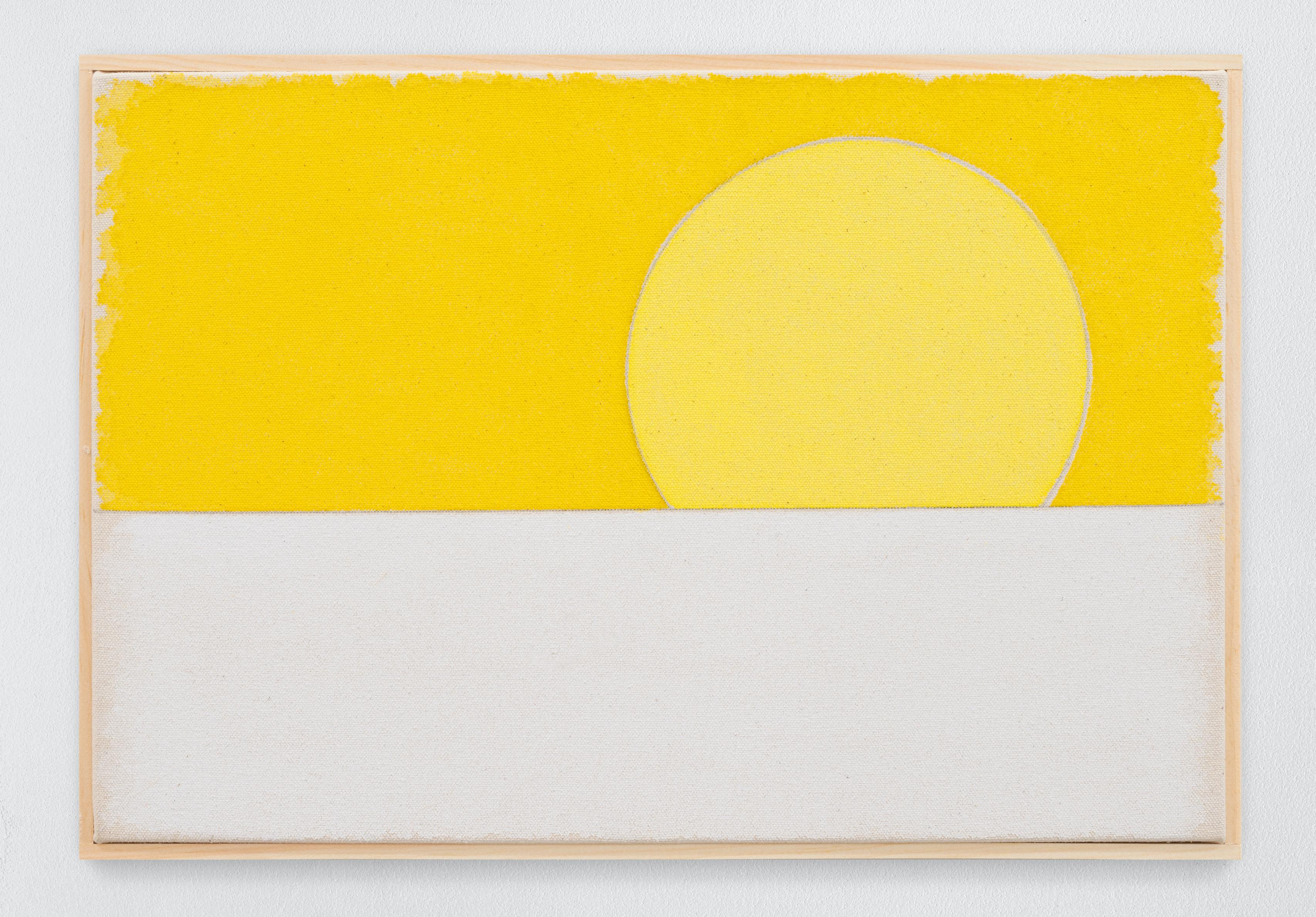 Ugo Rondinone zweiundzwanzigsterjanuarzweitausendundeinundzwanzig, 2020 watercolour on canvas, artist's frame site size: 28 x 40.5 x 2.2 cm / 11 1⁄8 x 16 x 7⁄8 in Credit: © Ugo Rondinone, courtesy Sadie Coles HQ, London.