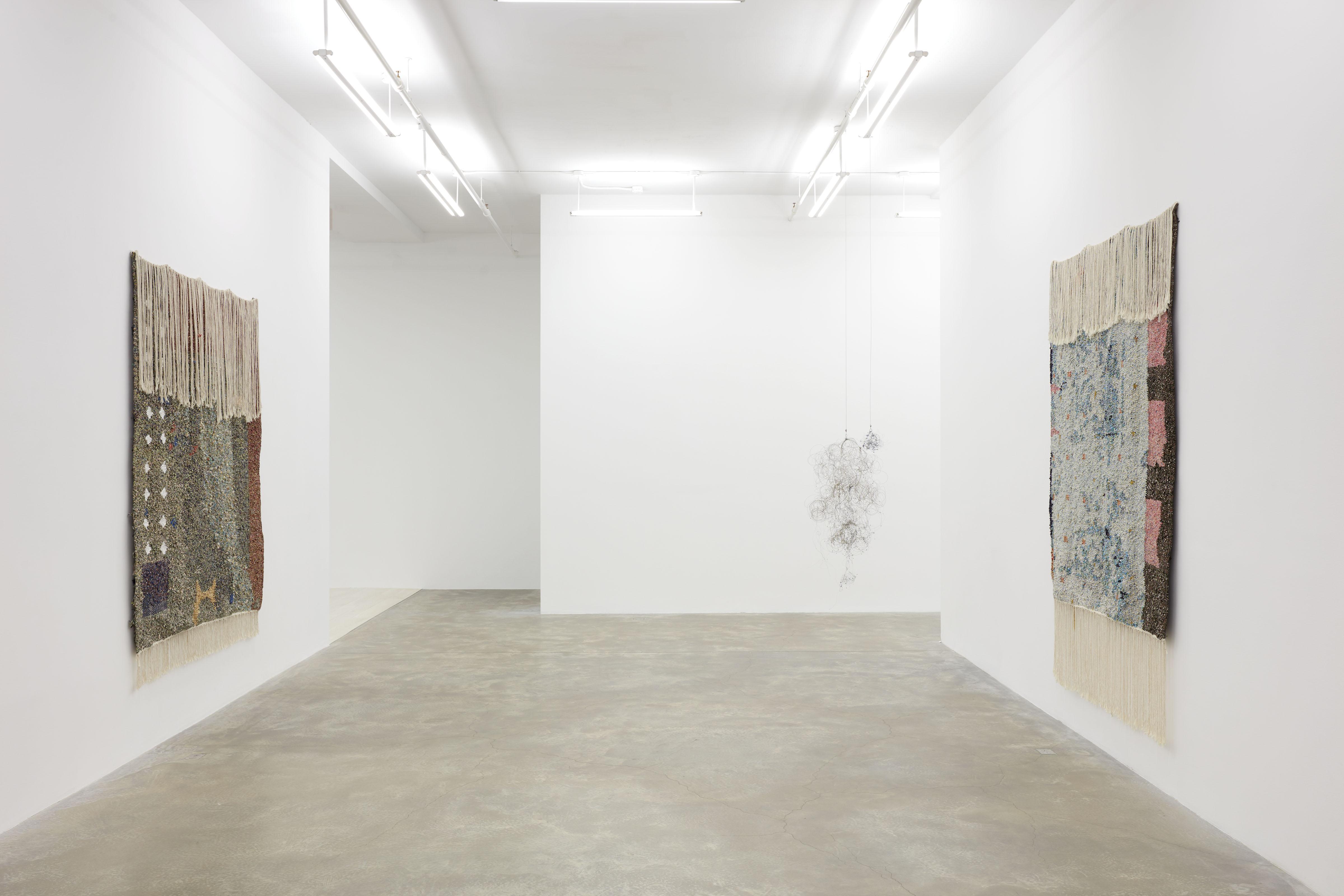 Installation view: Igshaan Adams, Veld Wen, Casey Kaplan, New York, May 1 - July 30, 2021. Photo: Jason Wyche. ©Igshaan Adams. Courtesy the artist and Casey Kaplan, New York.