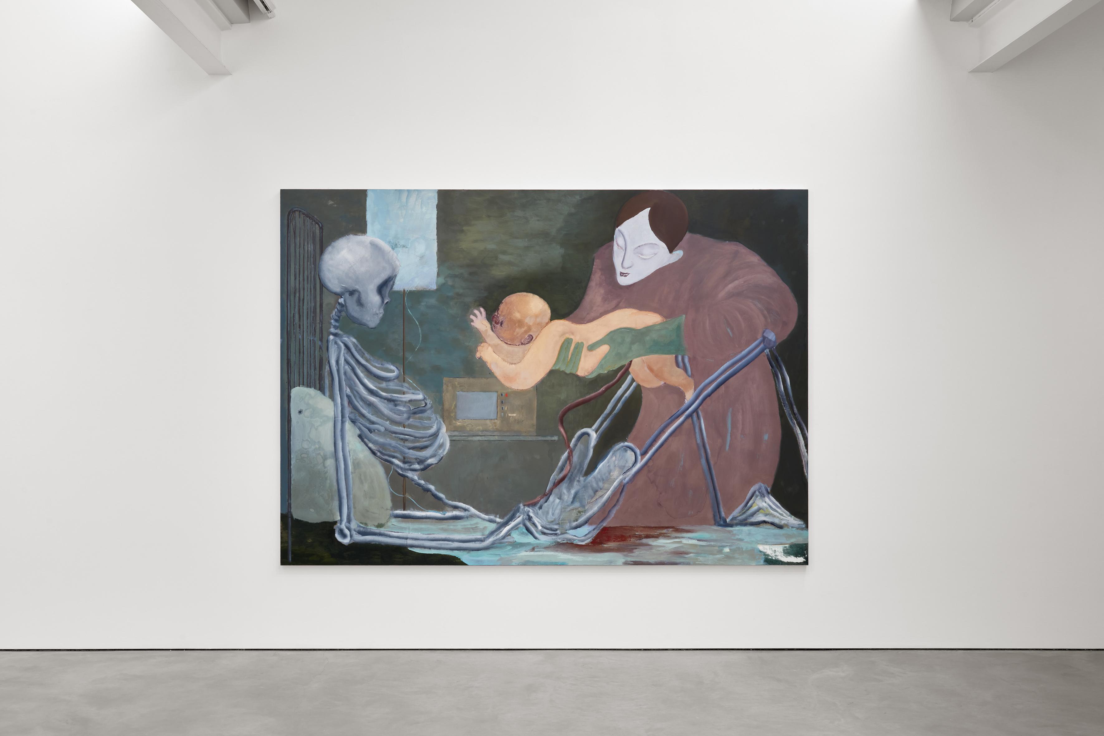 Sanya Kantarovsky, The House of the Spider, Modern Art Helmet Row, London, exhibition view, 8 May - 12 June 2021. Photo: Robert Glowacki. Courtesy: the artist and Modern Art, London
