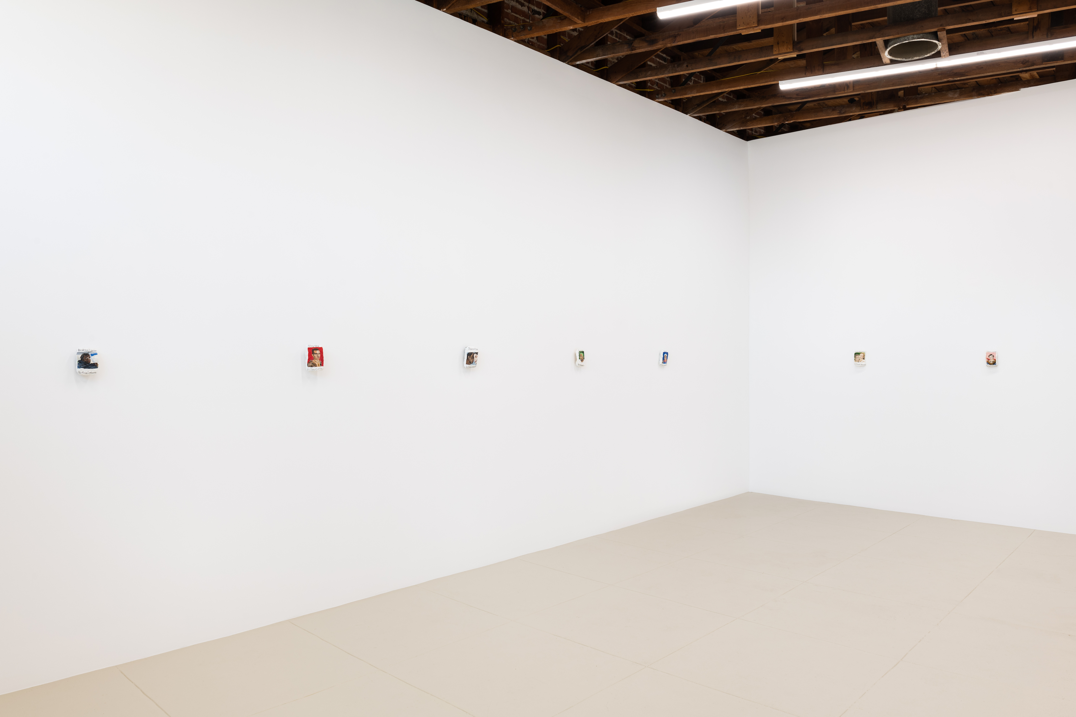 Installation View, Sophie Barber, Kim and Kanye kiss without tongues, Chris Sharp, LA, 2021