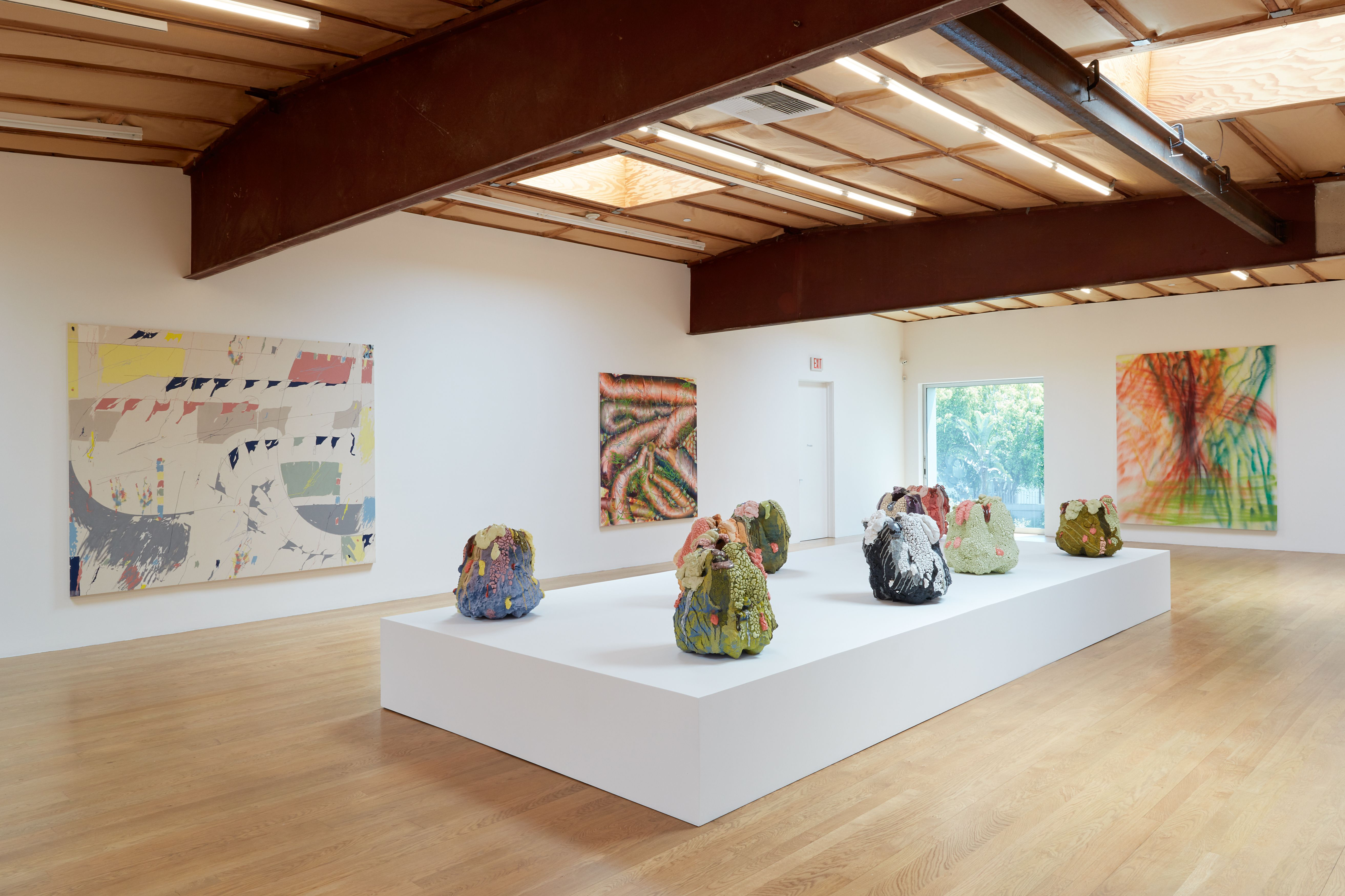 Installation view: On Boxing, Blum and Poe, Los Angeles, May 15 – June 26, 2021. Photo: Photo: Heather Rasmussen. Courtesy of the artists, Blum & Poe.