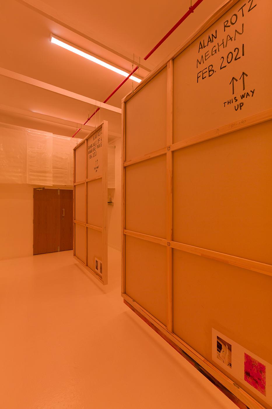 Installation view, Alan Rotz, MIRROR, 2021, Heteronymous Painters, © Alan Rotz. Photo: Vladimir Umanetz.