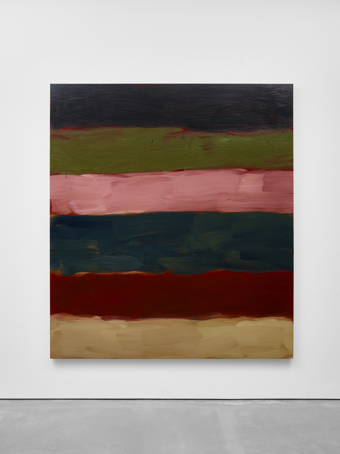 Sean Scully Landline That Pink, 2017 Oil on aluminum 215.9 x 190.5 x 5.1 cm 85 x 75 x 2 in © Sean Scully. Courtesy Lisson Gallery
