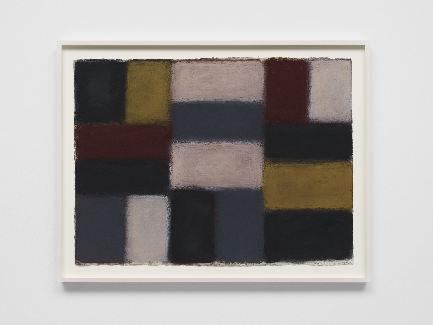 Sean Scully 12.29.20, 2020 Pastel on paper 57.2 x 77.5 cm 22 1/2 x 30 1/2 in © Sean Scully. Courtesy Lisson Gallery