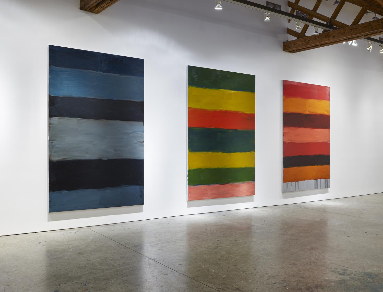 Sean Scully The 12, 2019–2020 Oil on aluminum 300 x 198 cm each 118 x 77 7/8 in each © Sean Scully. Courtesy Lisson Gallery