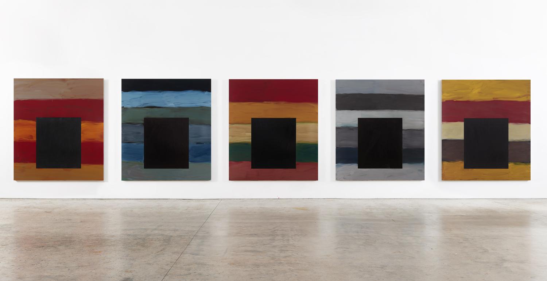 Sean Scully Dark Windows, 2020 Oil on aluminum Five panels: 215.9 x 190.5 cm (each) Five panels: 85 x 75 in (each) © Sean Scully. Courtesy Lisson Gallery